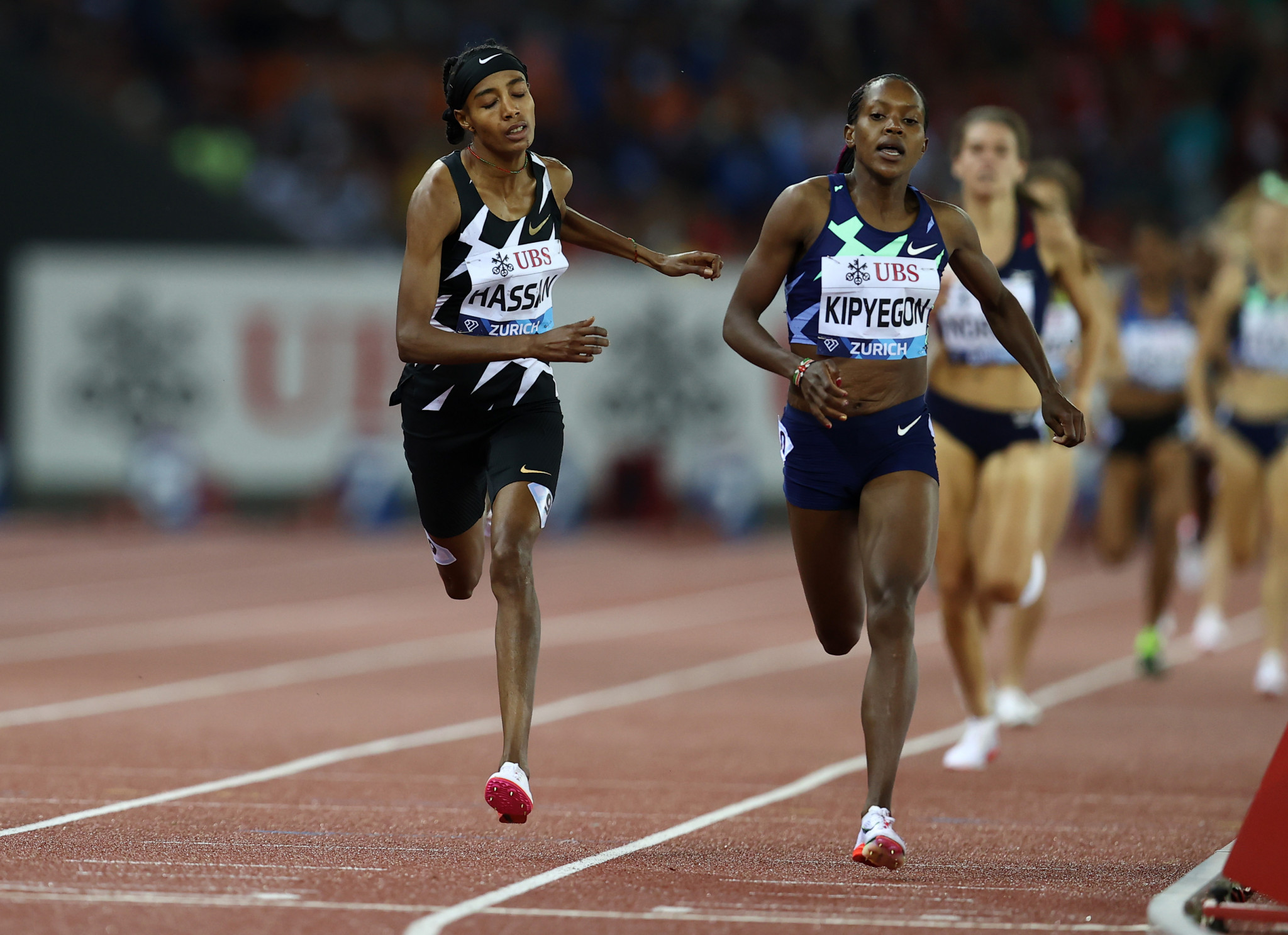 I was mighty close, but Faith Kipyegon pipped Sifan Hassan in the 1500m final ©Getty Images