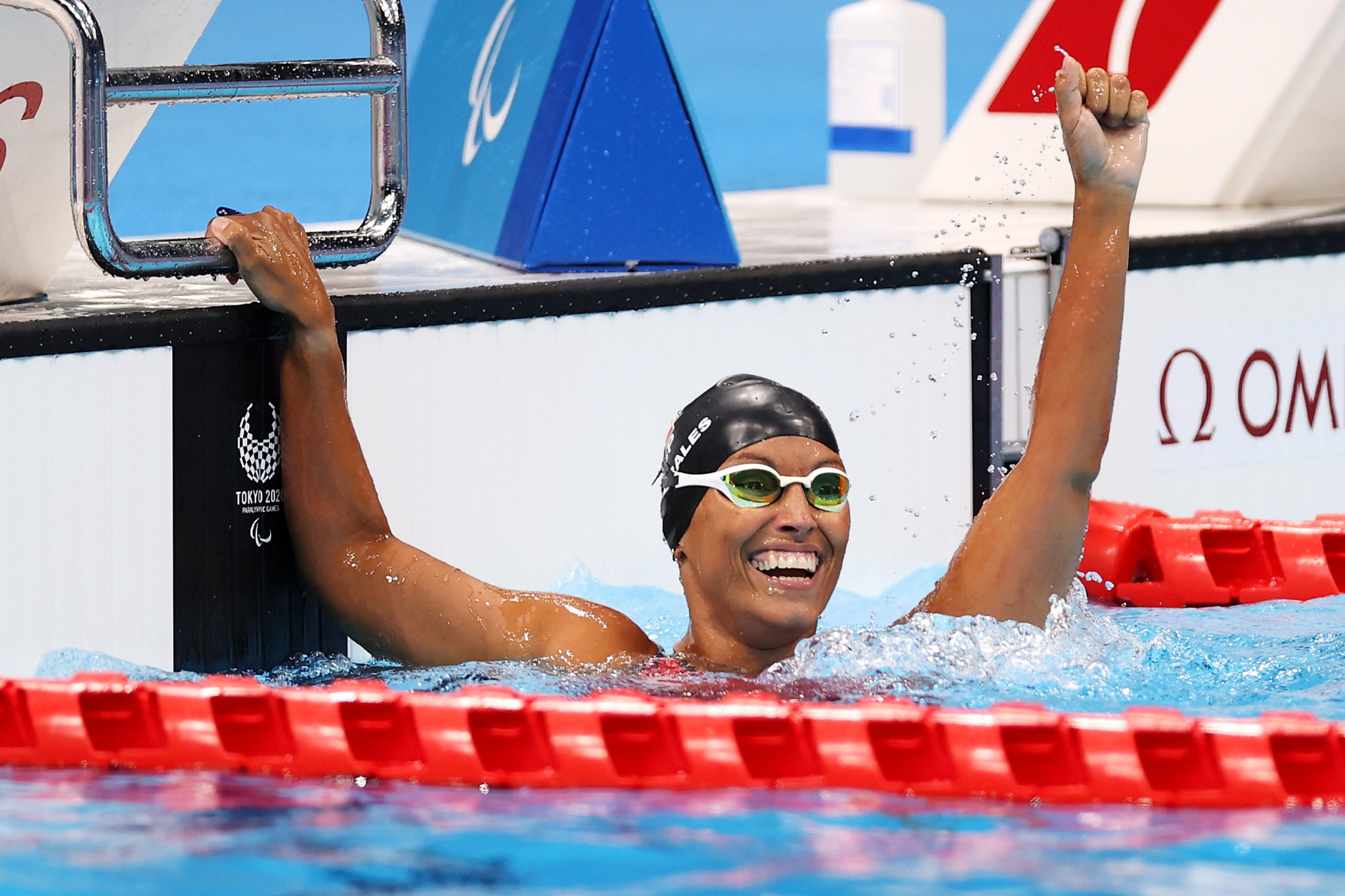 Teresa Perales won her 27th Paralympic medal in the women's S5 50m backstroke at Tokyo 2020 ©Getty Images