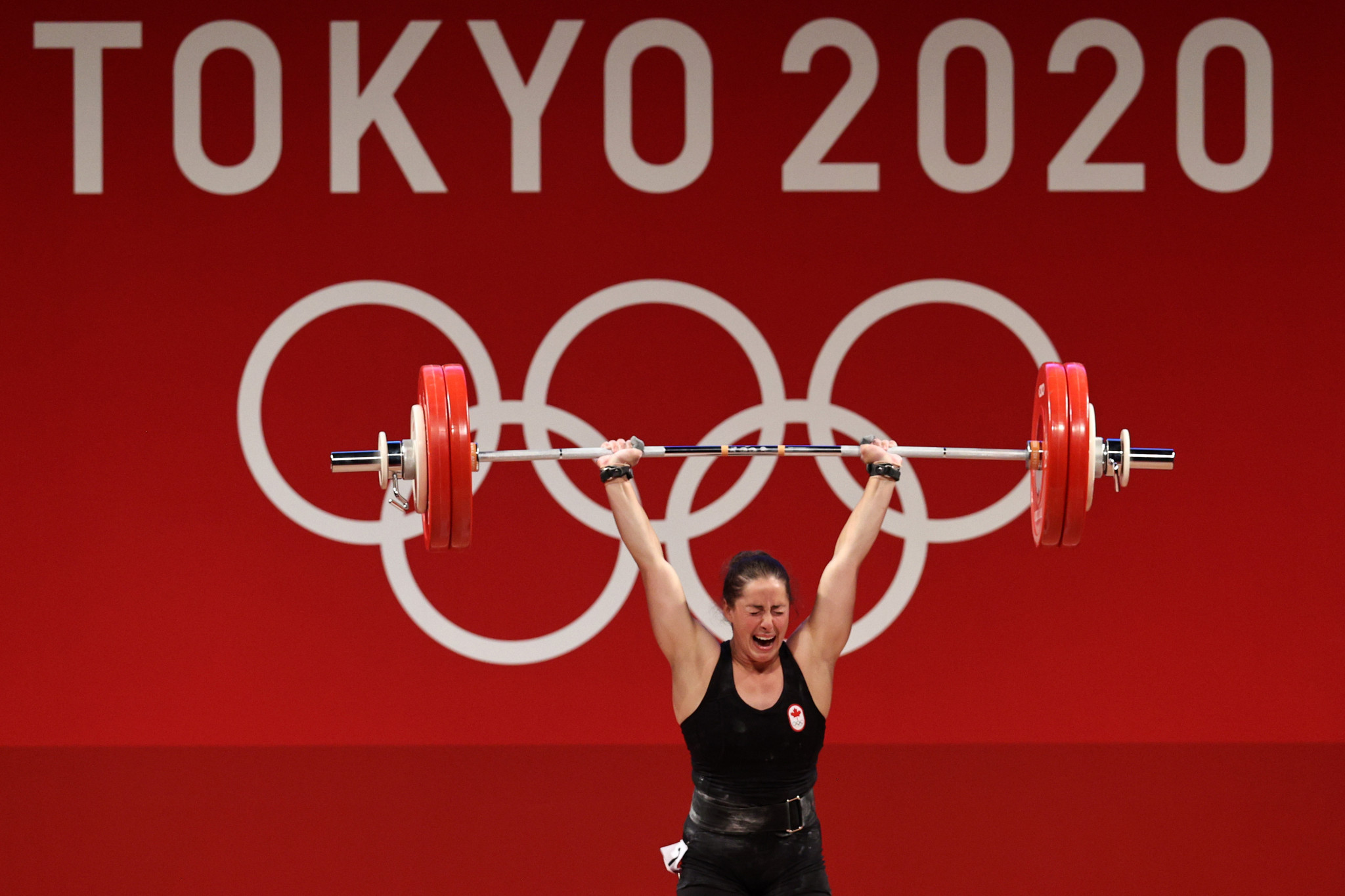 Canada's Olympic gold medallist Maude Charron would have been among competitors eligible to compete at the Commonwealth Weightlifting Championships in Singapore  ©Getty Images