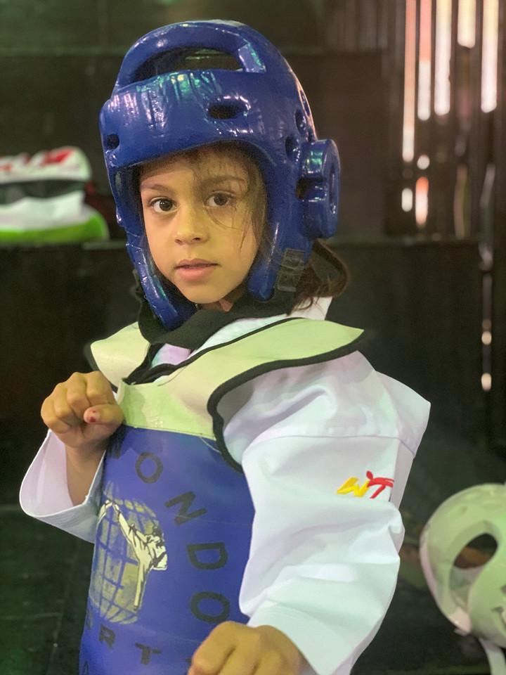 Doaa Al-Ayoub is one of 16 students of the Azraq Taekwondo Academy to have been awarded a black belt ©World Taekwondo