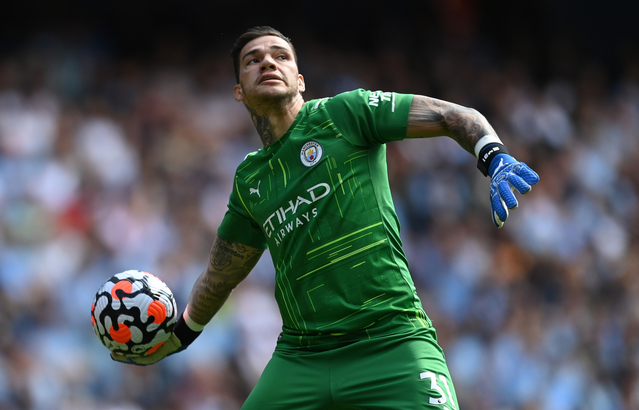 Manchester City goalkeeper Ederson is one of 11 players who will now be able to play in this weekend's Premier League matches ©Getty Images