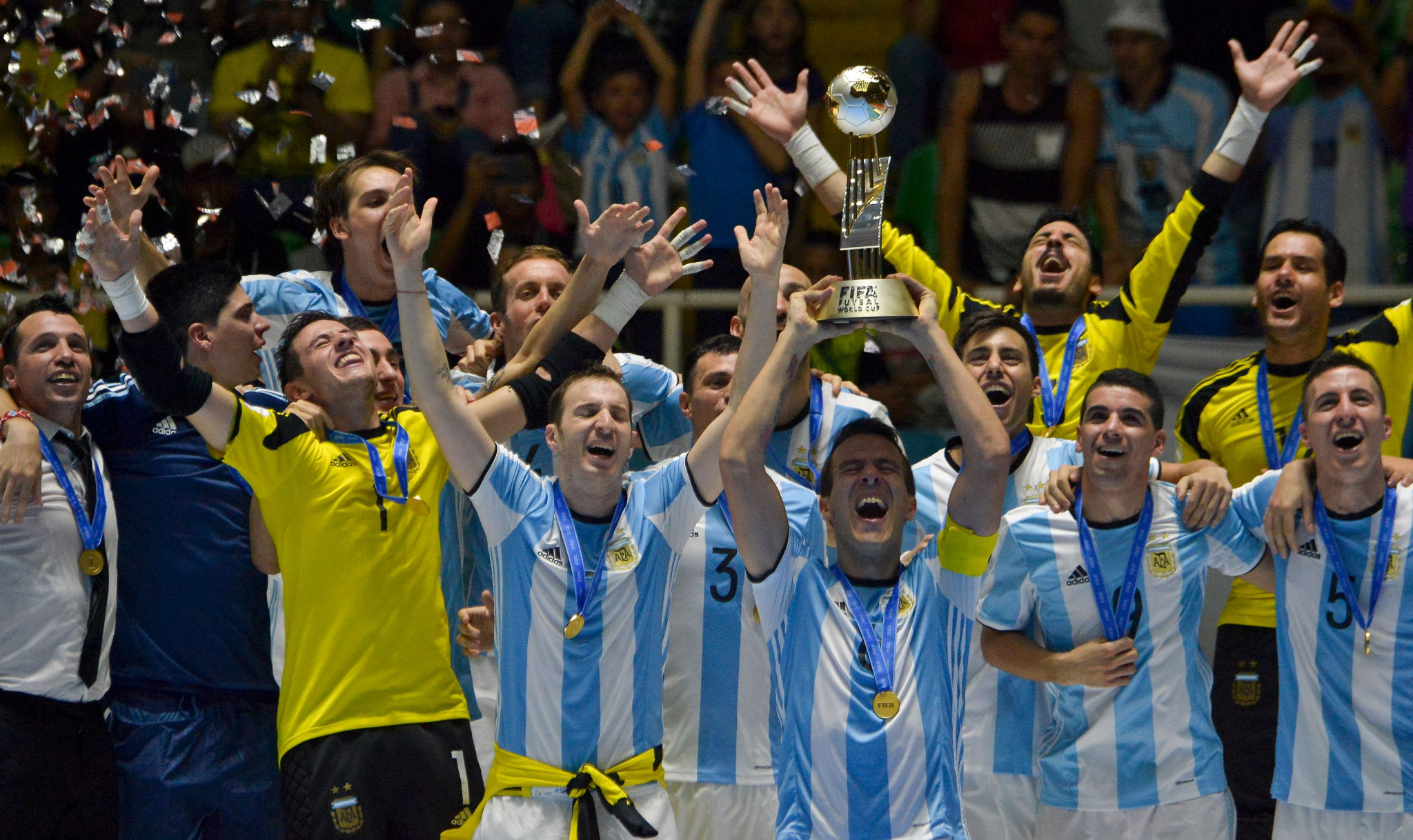 Argentina beat Russia in the 2016 final to win their first-ever FIFA Futsal World Cup ©Getty Images