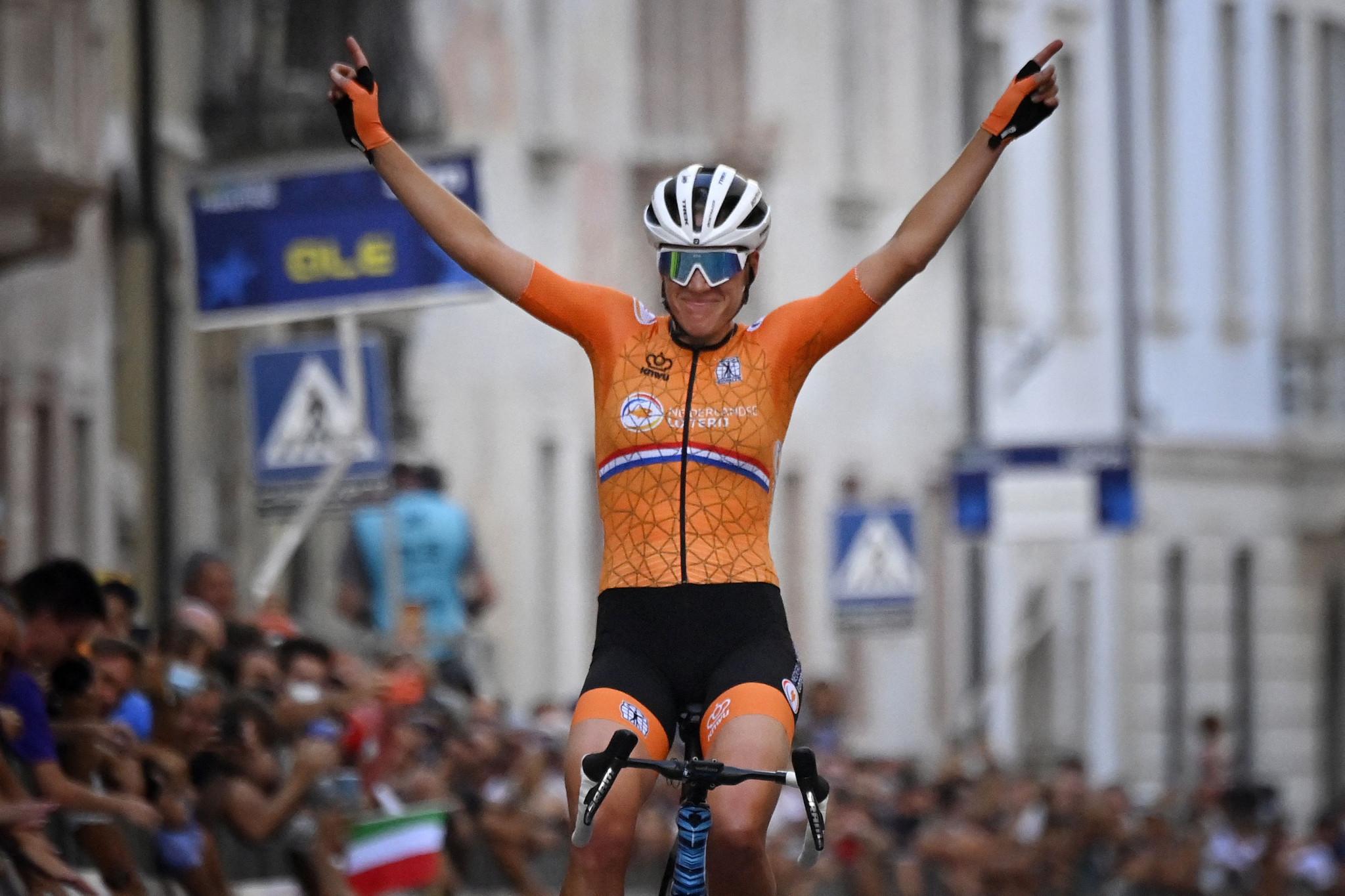 Van Dijk continues Dutch women's road race domination at UEC Road Championships