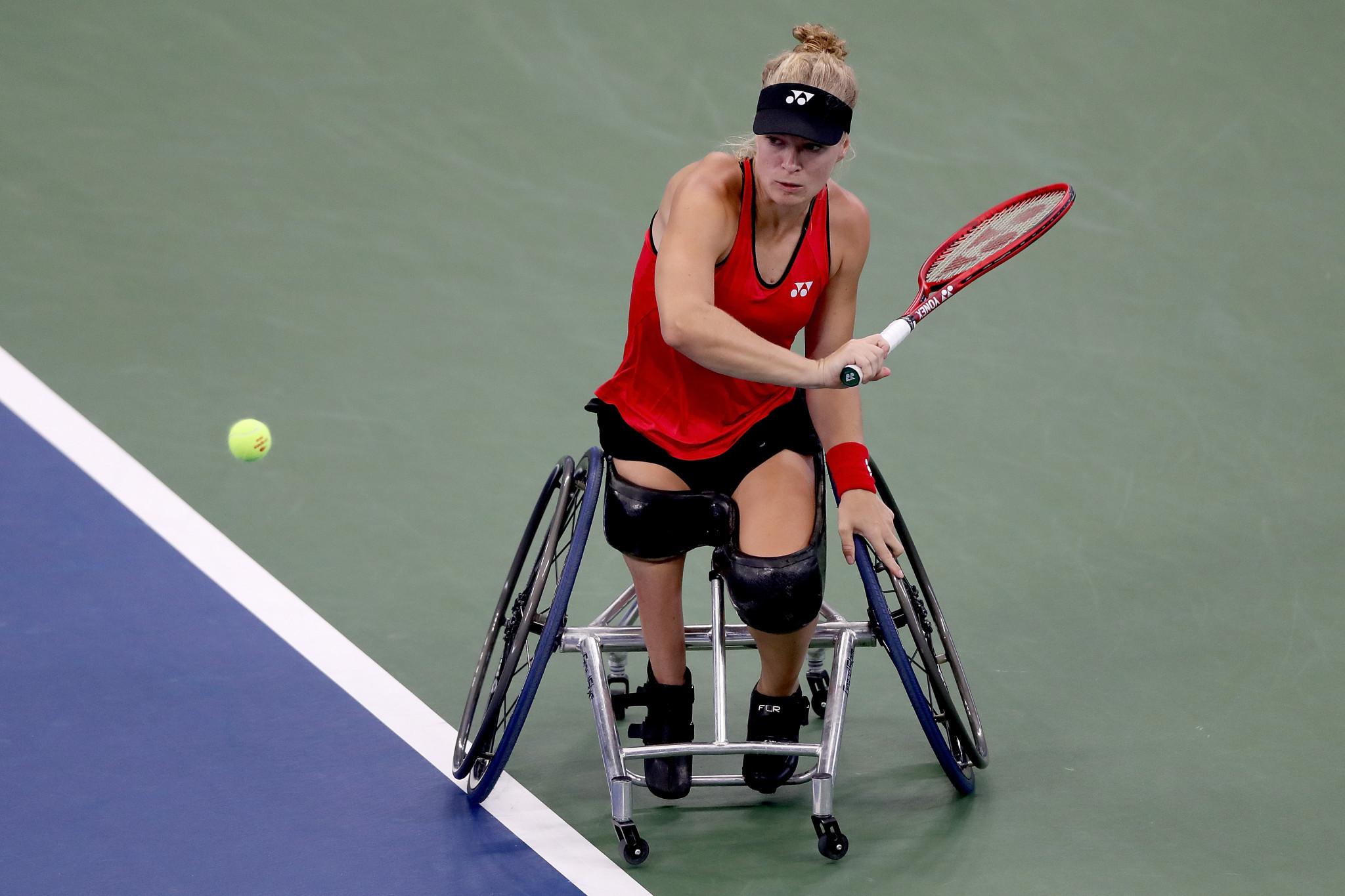 Diede de Groot hit 22 winners in her semi-final win against Aniek van Koot ©Getty Images