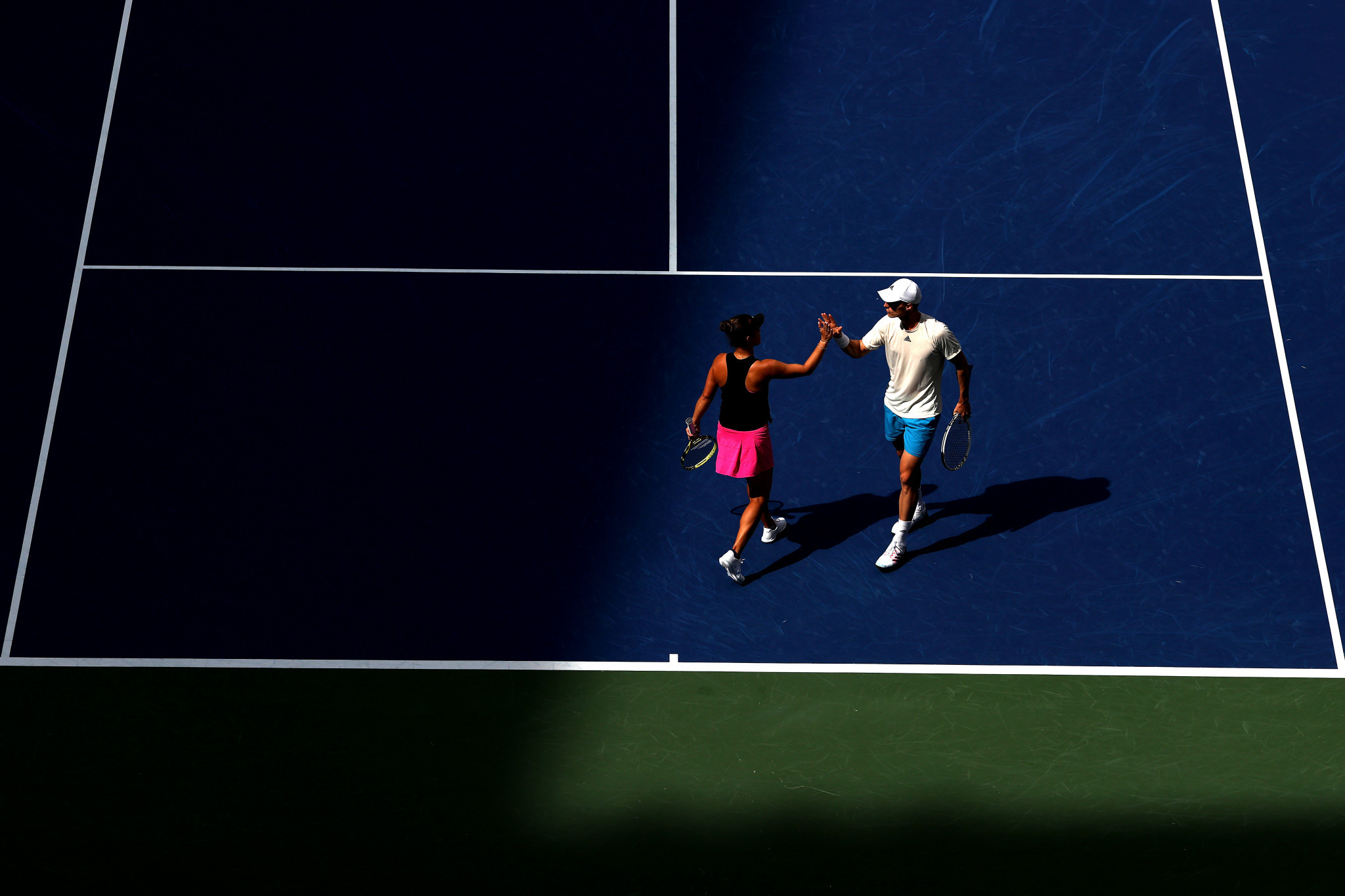 Joe Salisbury had earlier won the mixed doubles final with American partner Desirae Krawczyk  ©Getty Images