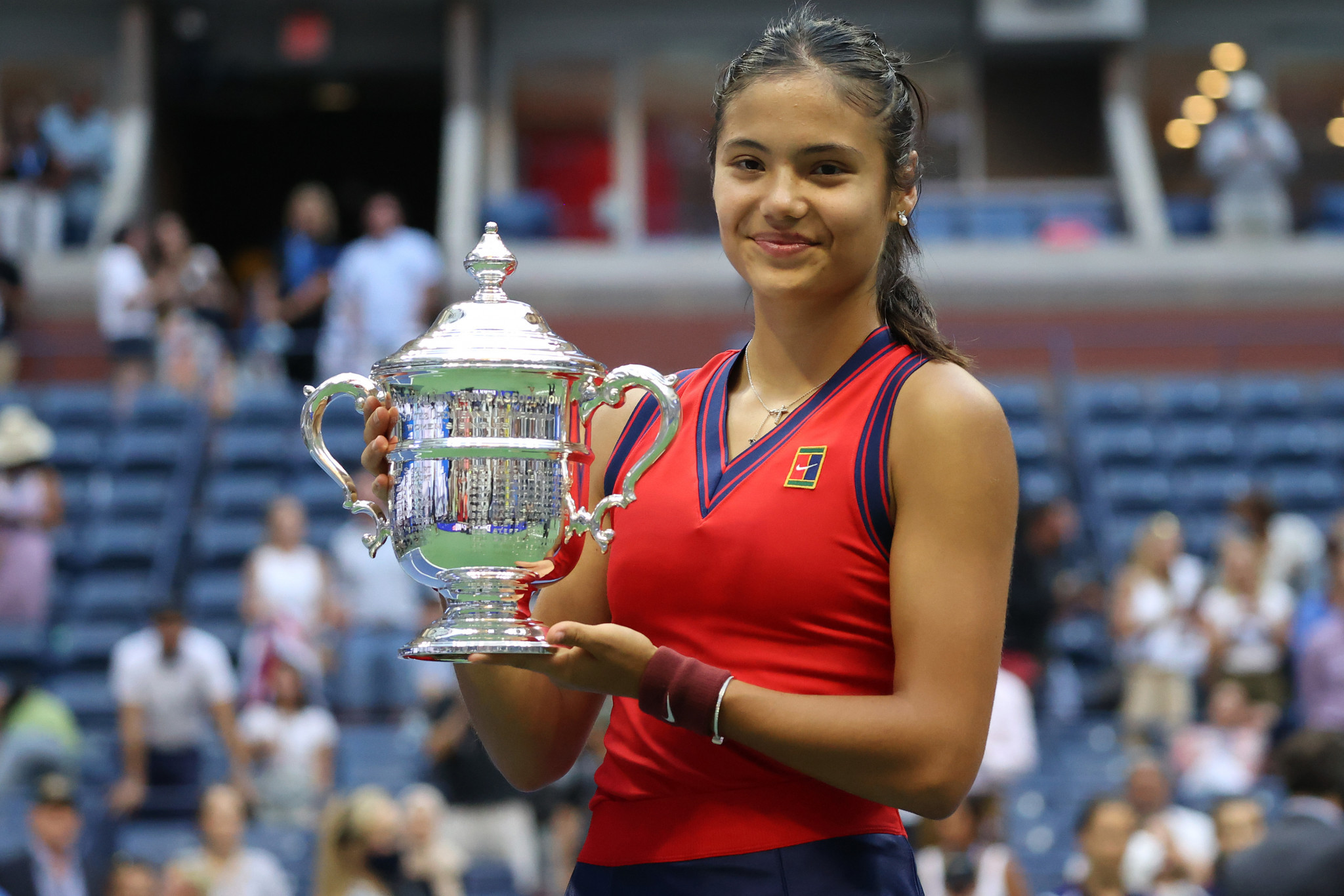 Emma Raducanu became the first qualifier to win a Grand Slam singles title ©Getty Images