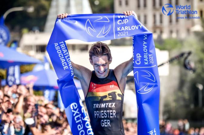 Nygaard-Priester and Derron conquer Karlovy Vary World Triathlon Cup