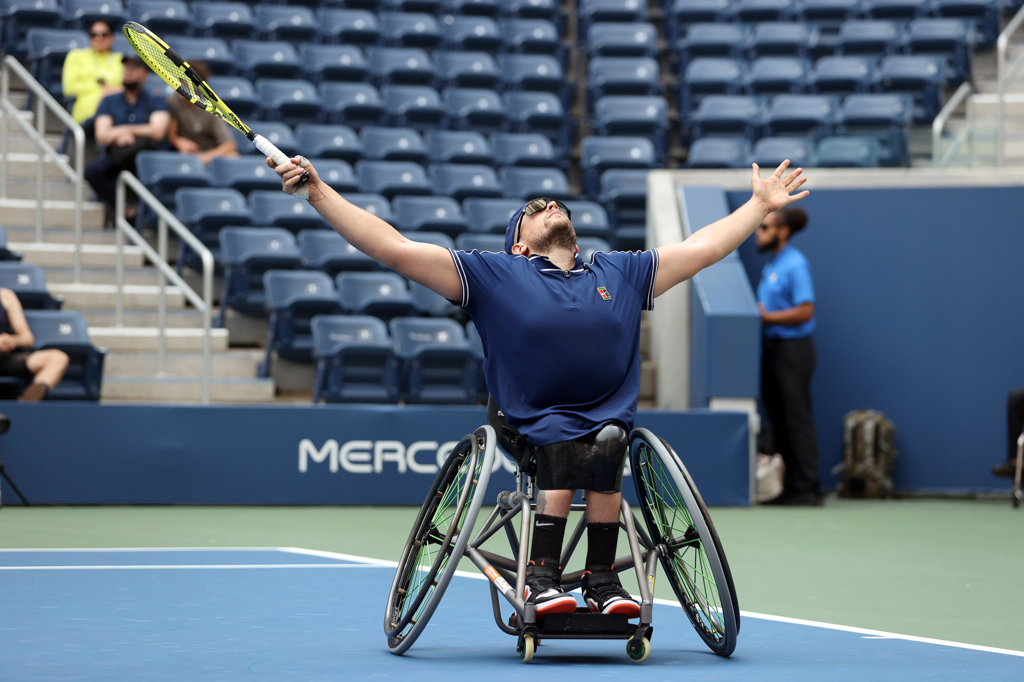 And in the quad singles, Australia's Dylan Alcott did the same - and won his third US Open singles title in the process ©Getty Images