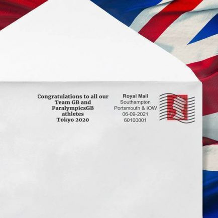 Royal Mail issues a special postmark congratulating Team GB and ParalympicsGB Tokyo 2020 athletes