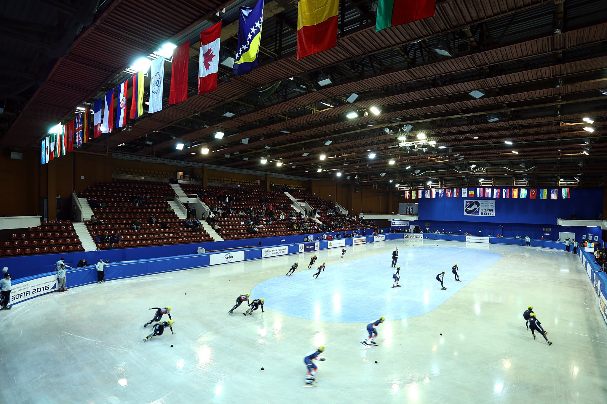 The Winter Sports Palace in Sofia has a capacity of 4,600 and also hosts short track speed skating events as well as ice hockey ©Getty Images