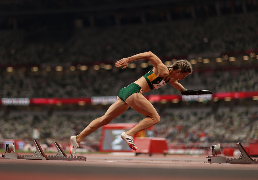 Anrune Weyers won the women's 400m T47 at Tokyo 2020 ©Getty Images