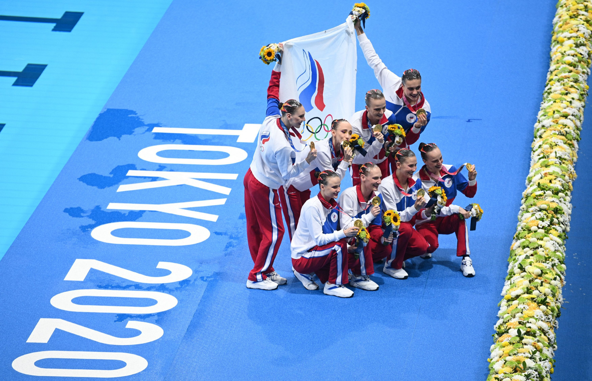 Russian athletes competing at Tokyo 2020 had to compete under the banner of the ROC and the country's flag was banned ©Getty Images