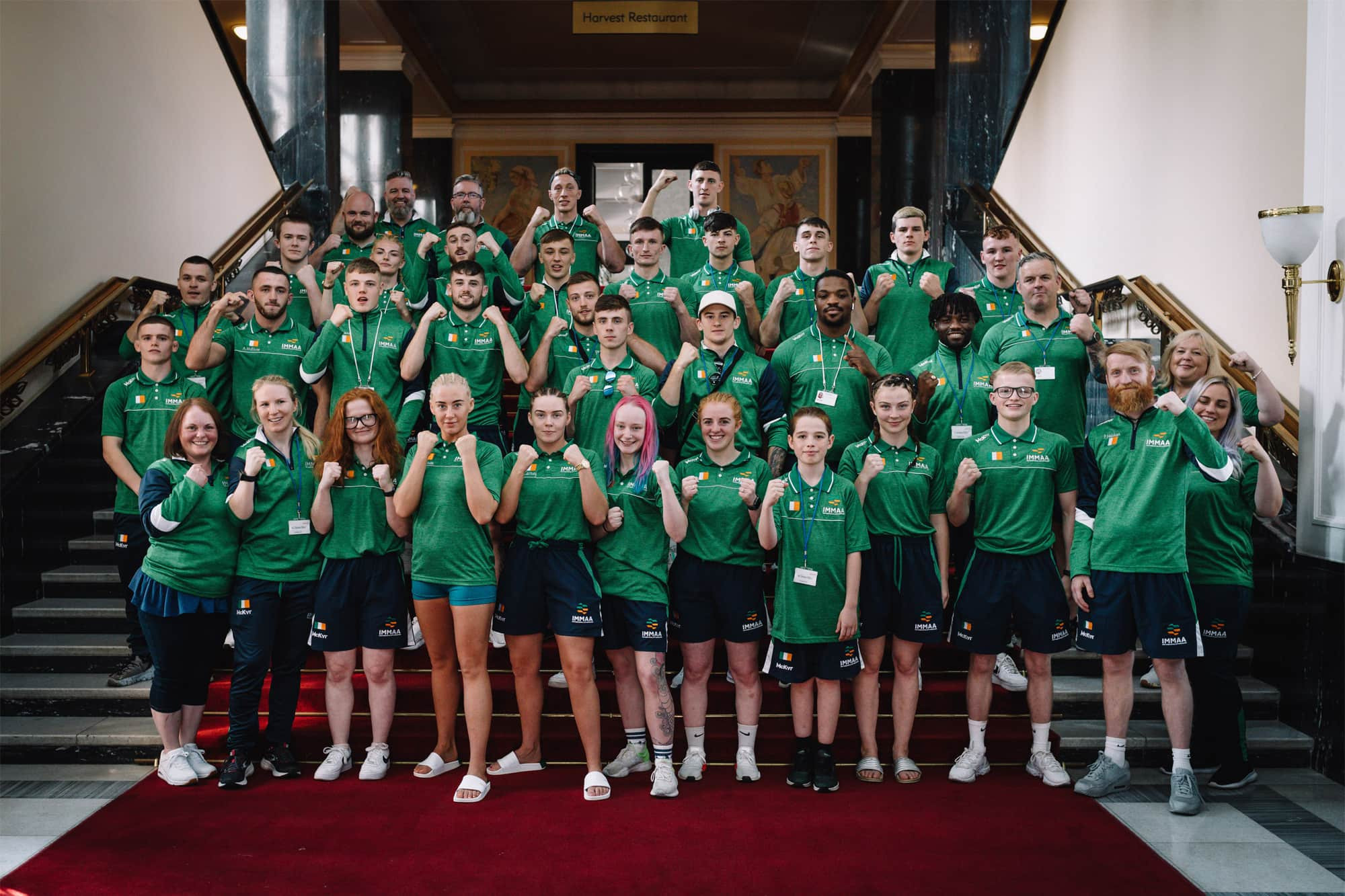 Irish medallists Bannon and Carney lauded on return from IMMAF World Cup