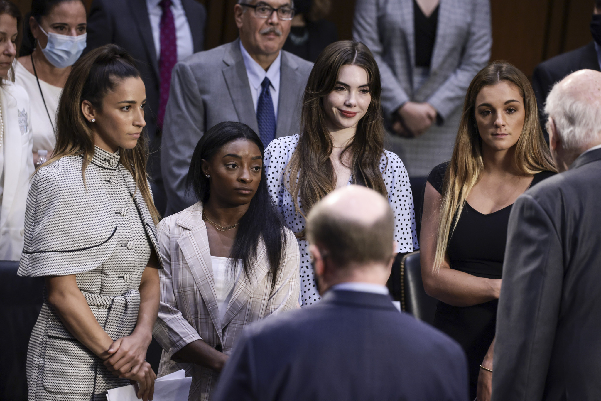 Aly Raisman, Simone Biles, McKayla Maroney and Maggie Nichols - left to right - all gave testimony to the Senate Judiciary Committee ©Getty Images