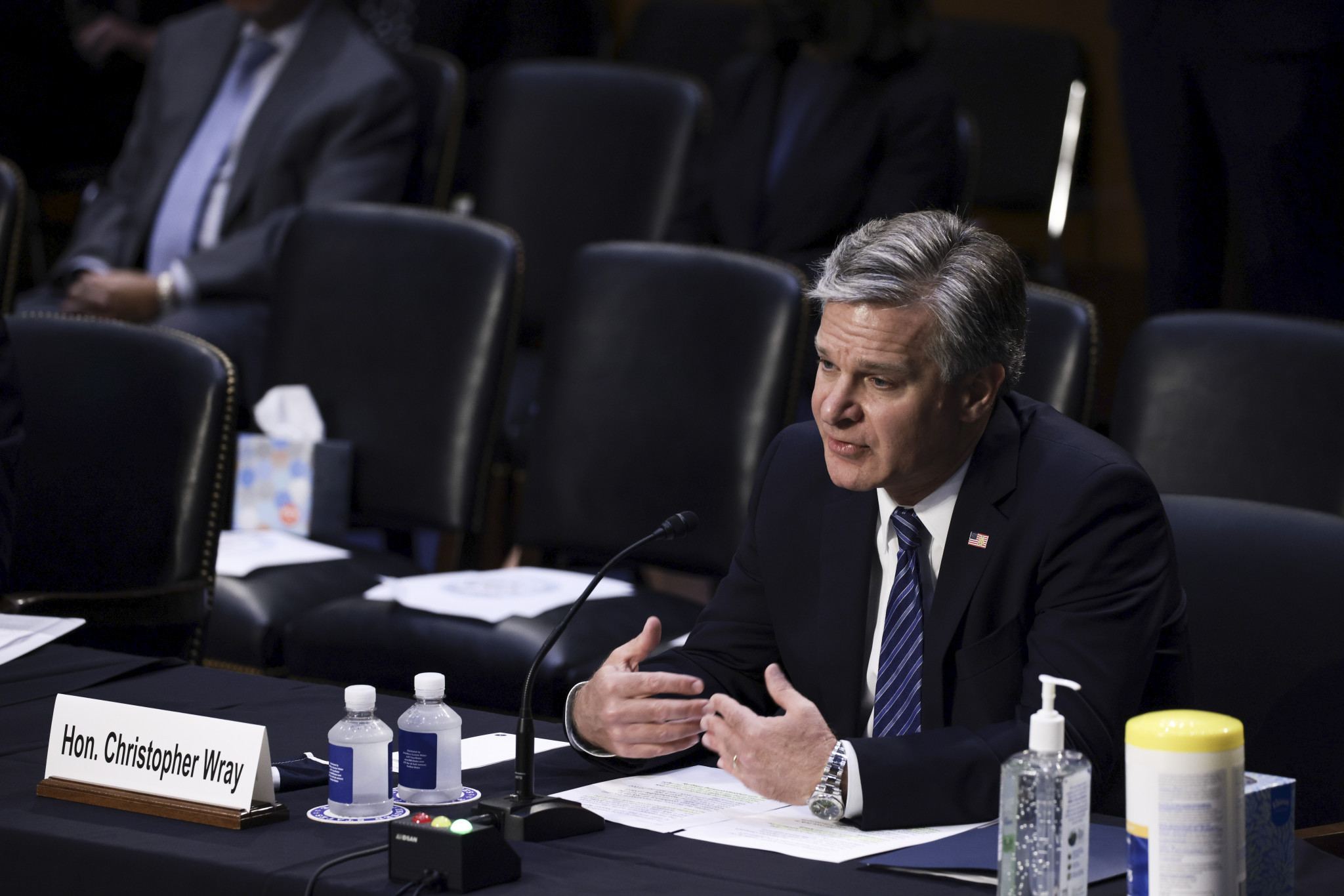 FBI director Christopher Wray admitted contained