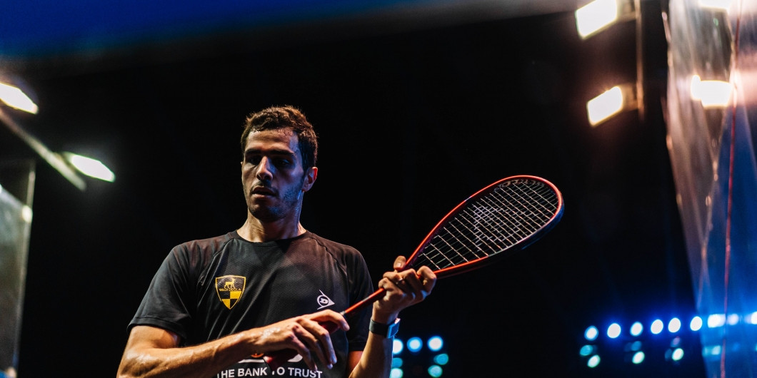 Defending champion Ali Farag is through to the Egyptian Open semi-finals after beating Mazen Hesham ©PSA
