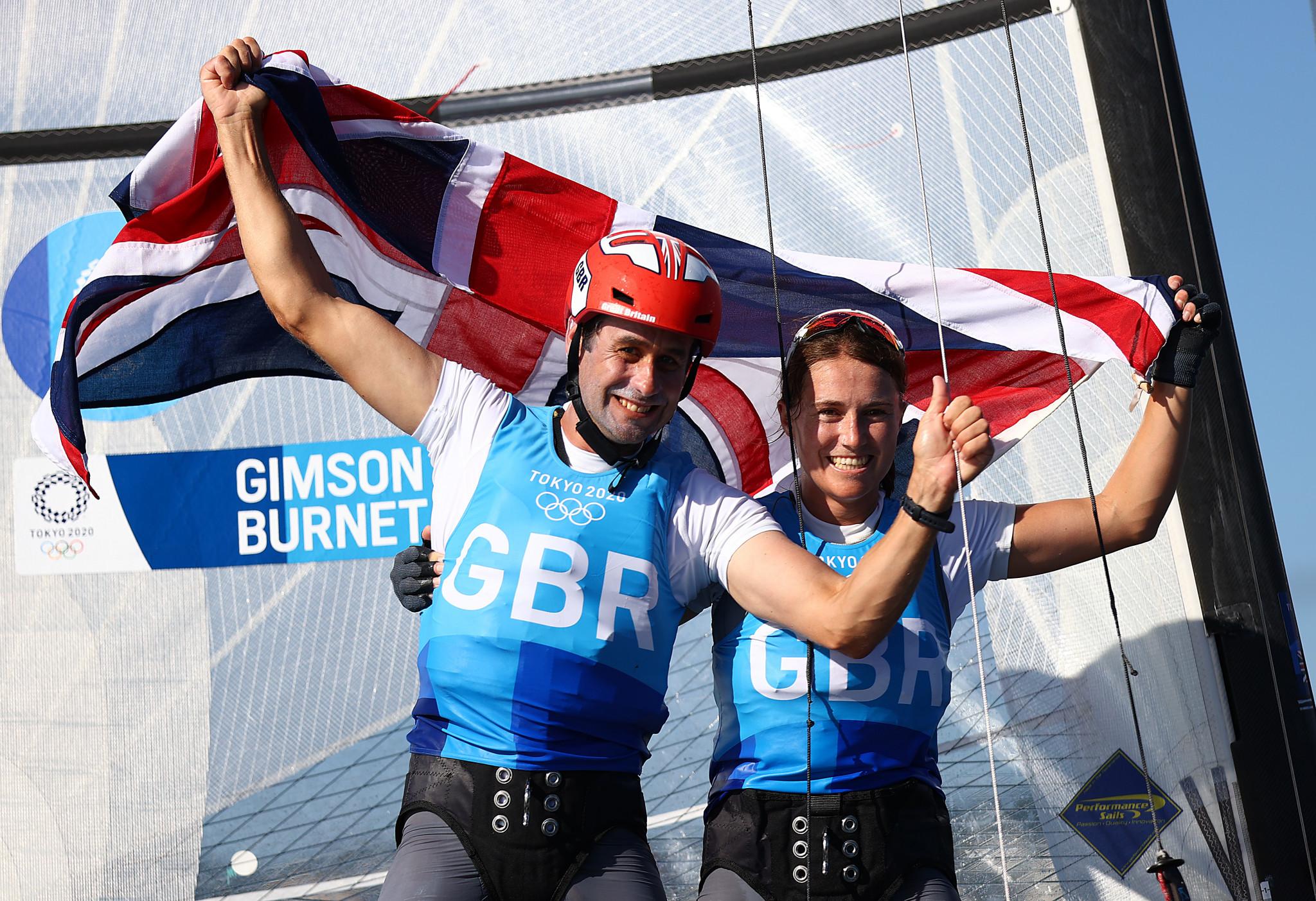 Gimson and Burnet maintain lead in Nacra 17 at European Championship