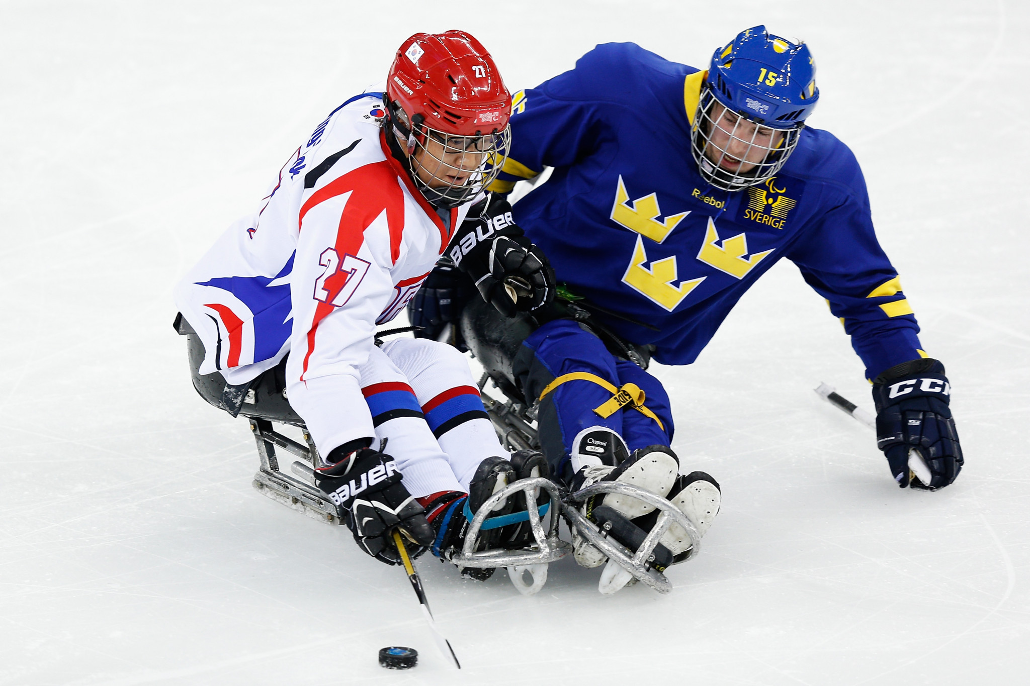 Hosts Sweden victorious on opening day of World Para Ice Hockey Championships B-Pool