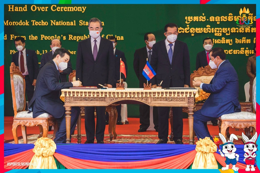 """Cambodia NOC President proud of """"great achievement"""" as main stadium for 2023 SEA Games handed over"""