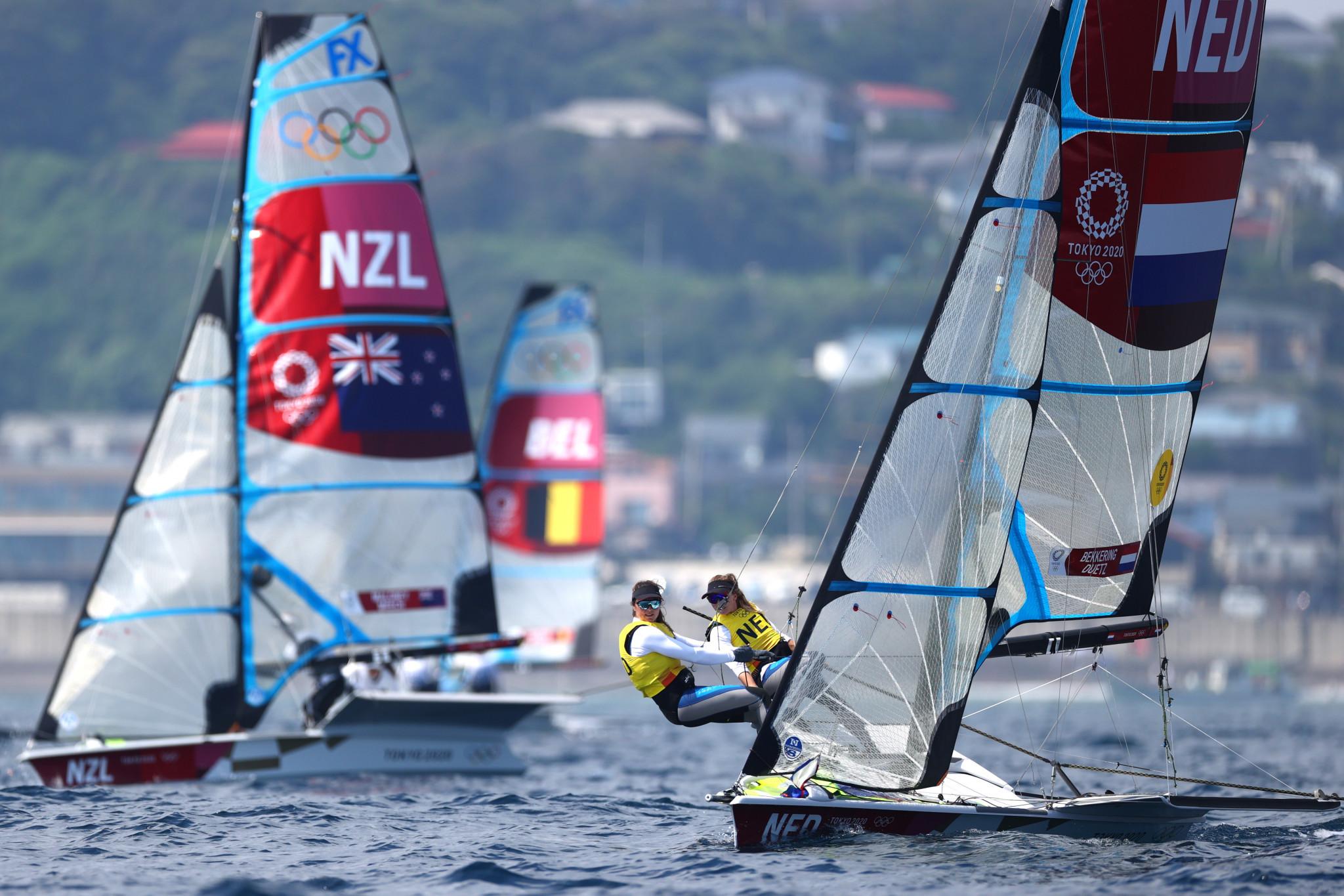 Dutch duo take lead in European 49erFX Championships as Malta suffer horrendous day