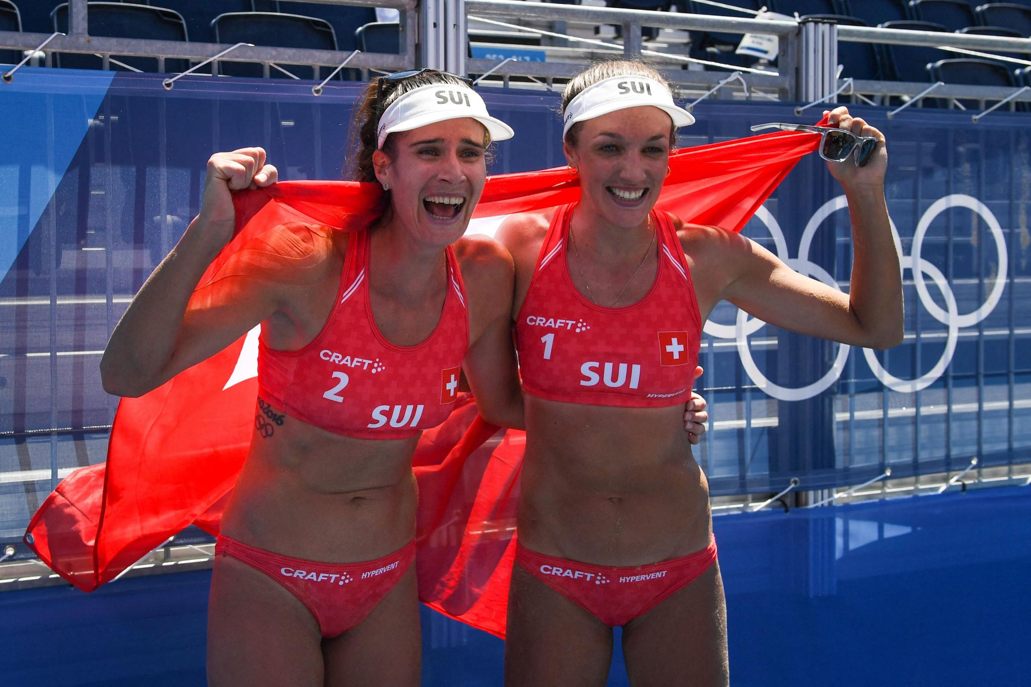 Anouk Vergé-Dépré won the bronze medal with Joana Heidrich ©Getty Images