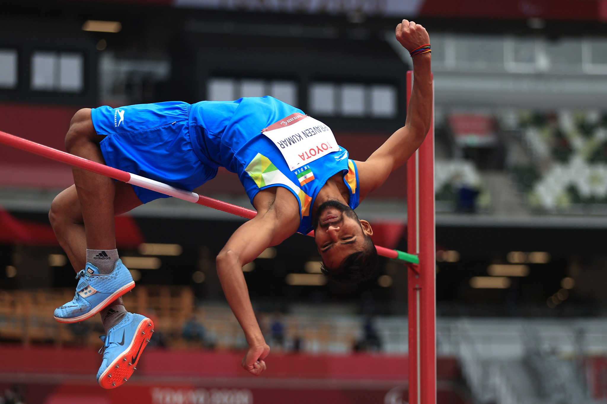 Praveen Kumar won silver in the men's T64 high jump event at Tokyo 2020 ©Getty Images