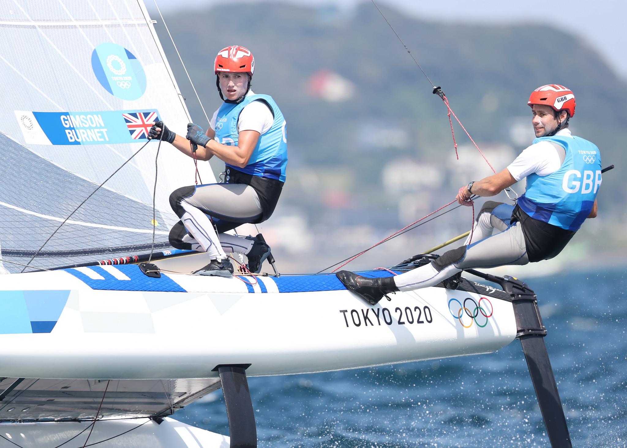 Gimson and Burnet keep Nacra 17 lead entering final day of European Championship