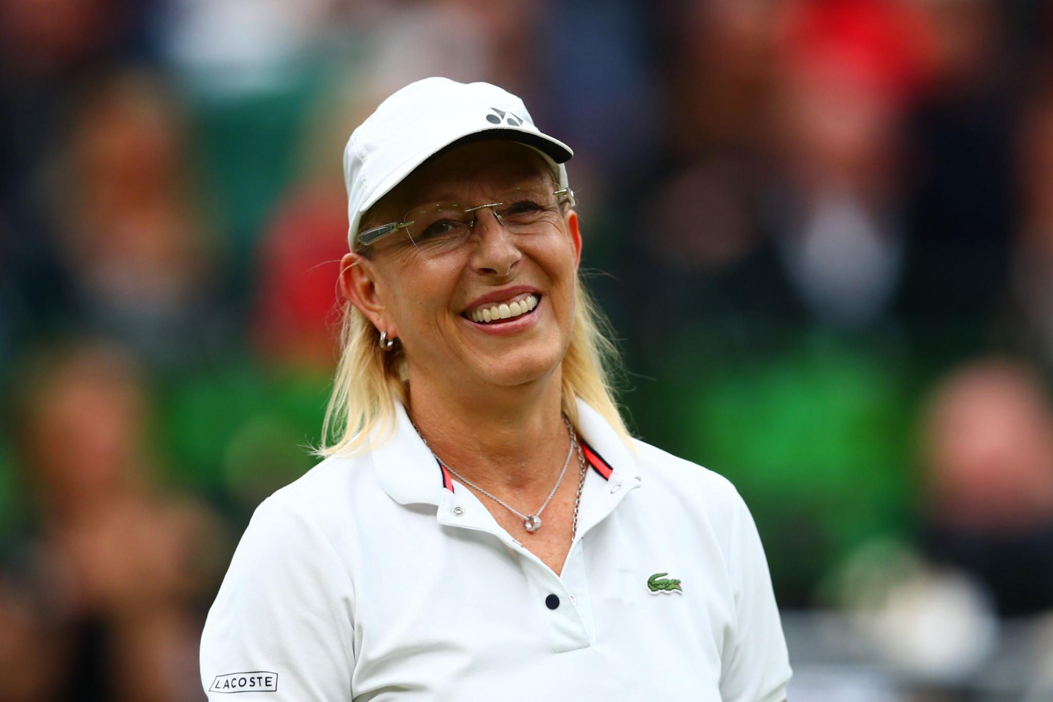 Martina Navratilova won 18 Grand Slam titles, and is among the sporting legends to back Petr Bříza's bid ©Getty Images