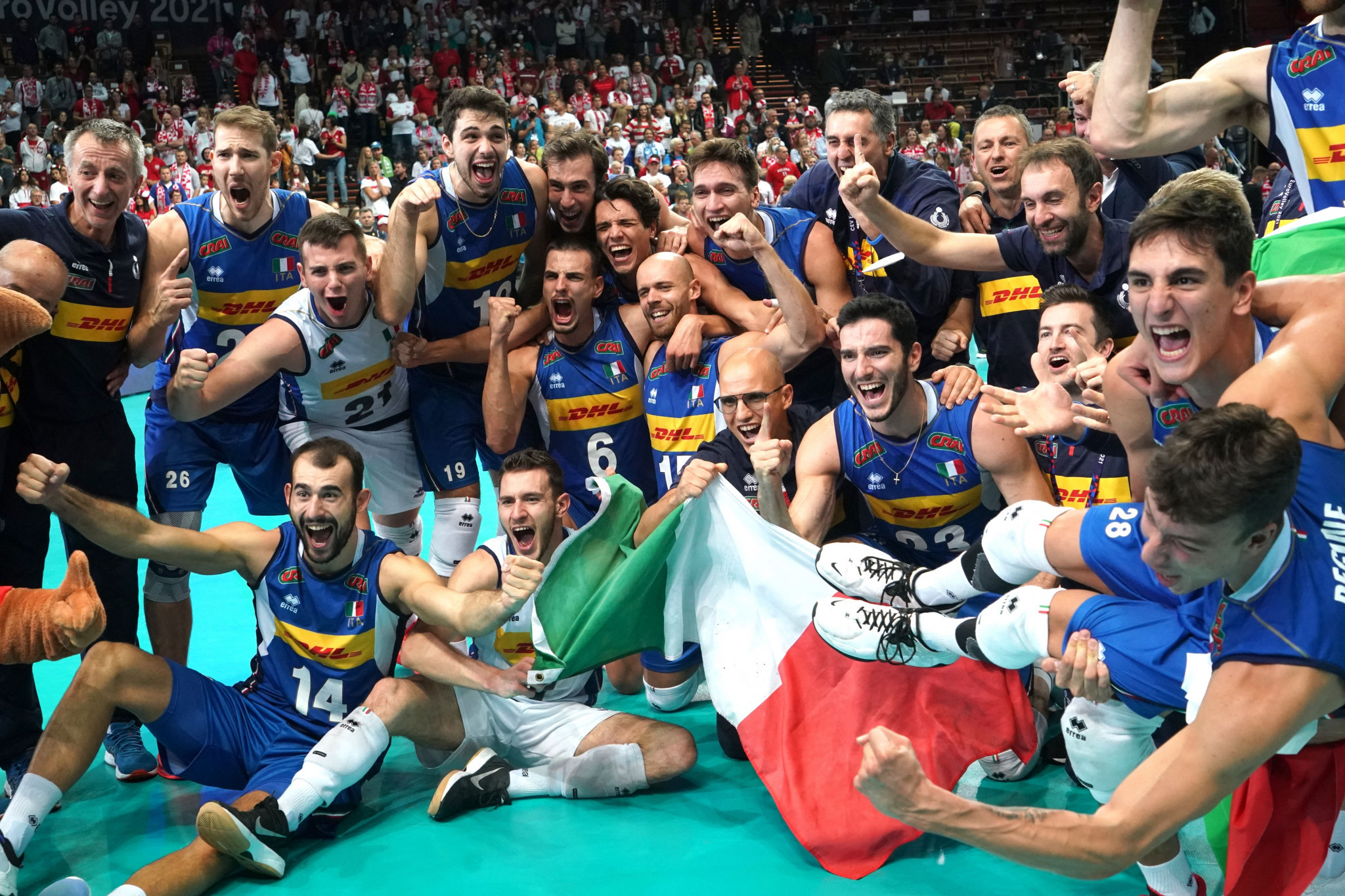 Italy defeat Slovenia in five-set thriller to win Men's EuroVolley for seventh time