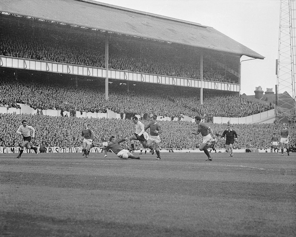 Jimmy Greaves en route to one of his greatest goals, against Manchester United at White Hart Lane in October 1965 ©Getty Images