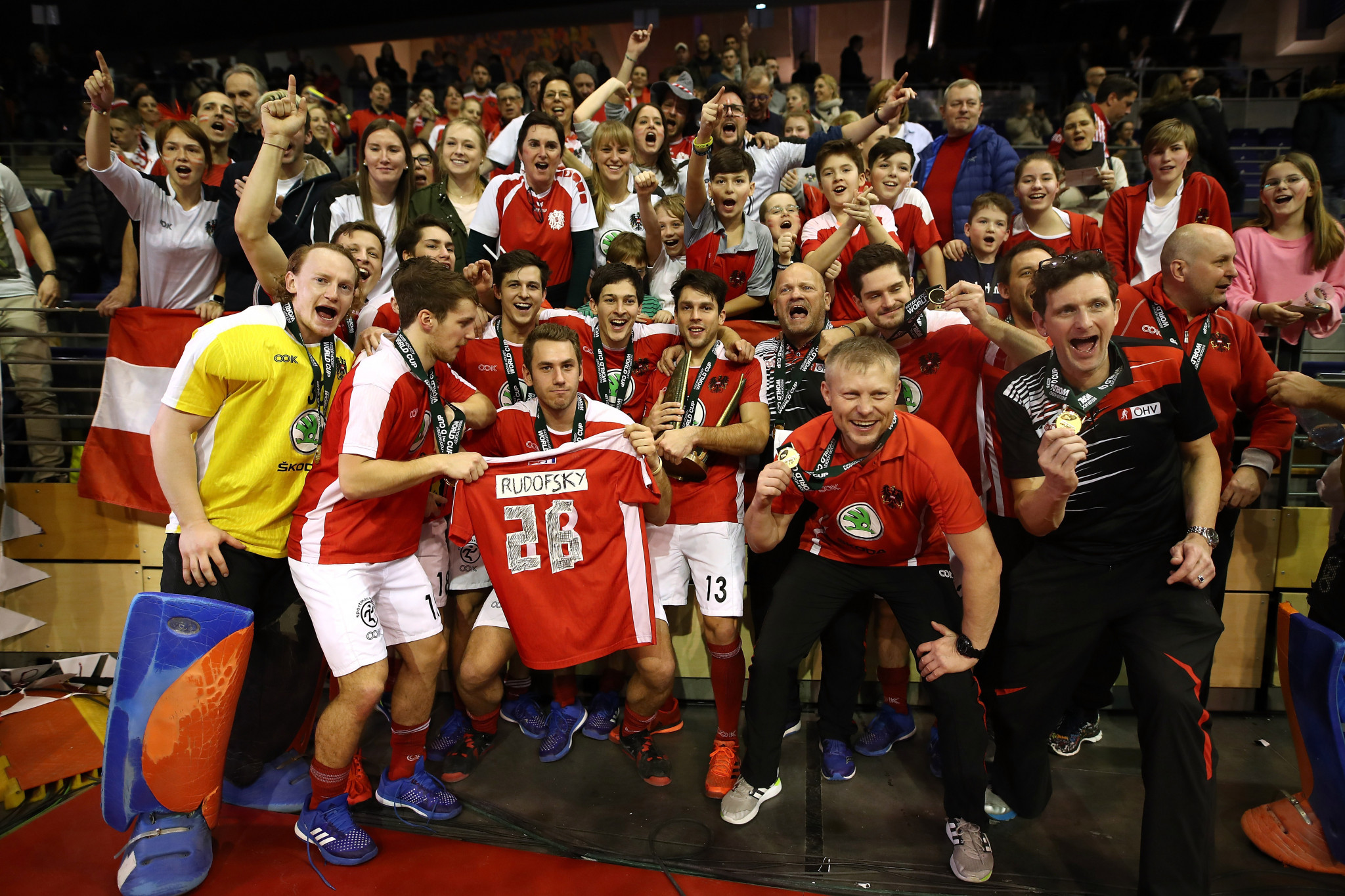 Austria won the men's Indoor Hockey World Cup in 2018, which will take place in February next year in Belgium ©Getty Images