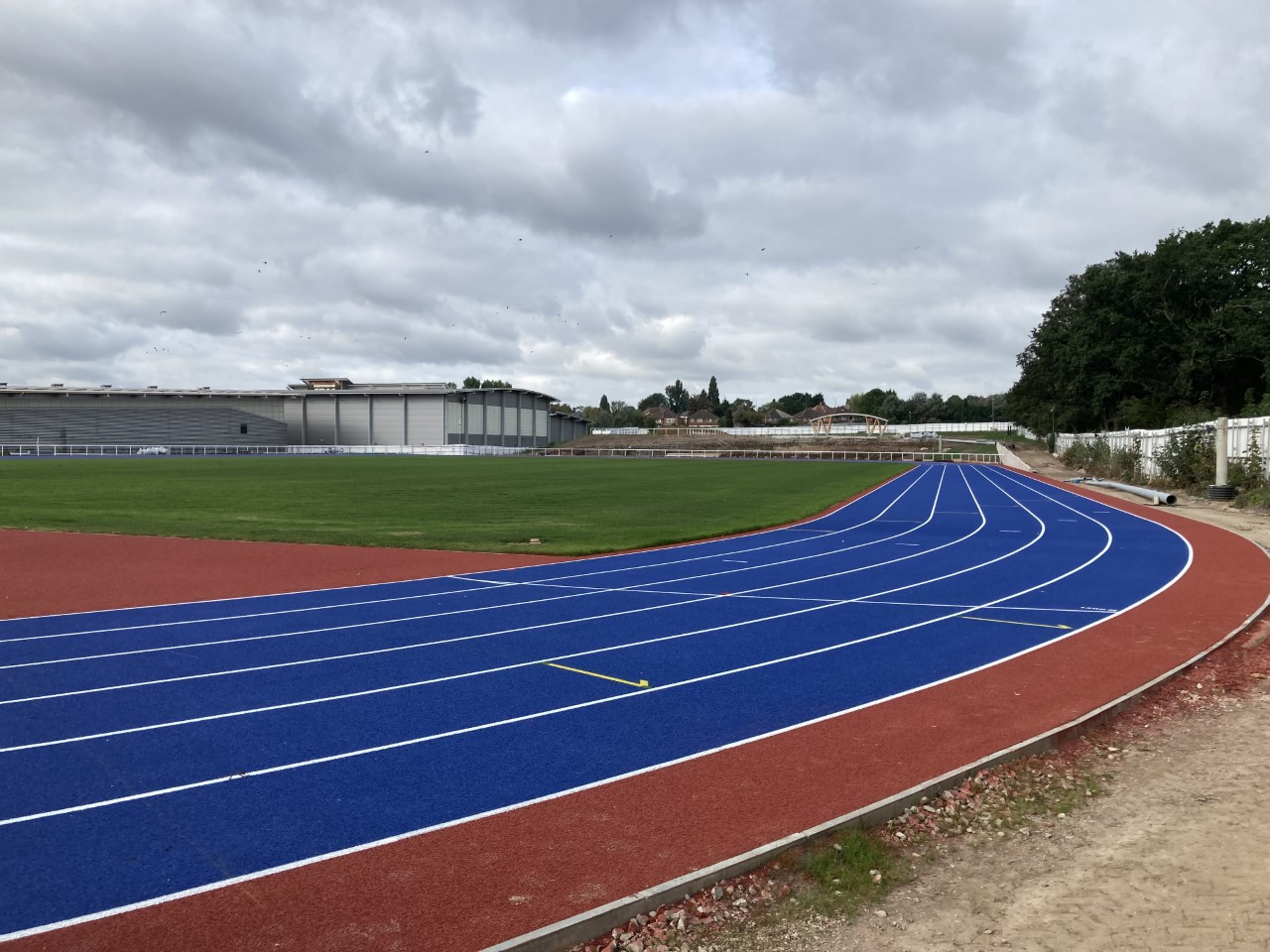 Work has also been taking place on a brand new running track adjacent to the Alexander Stadium ©ITG