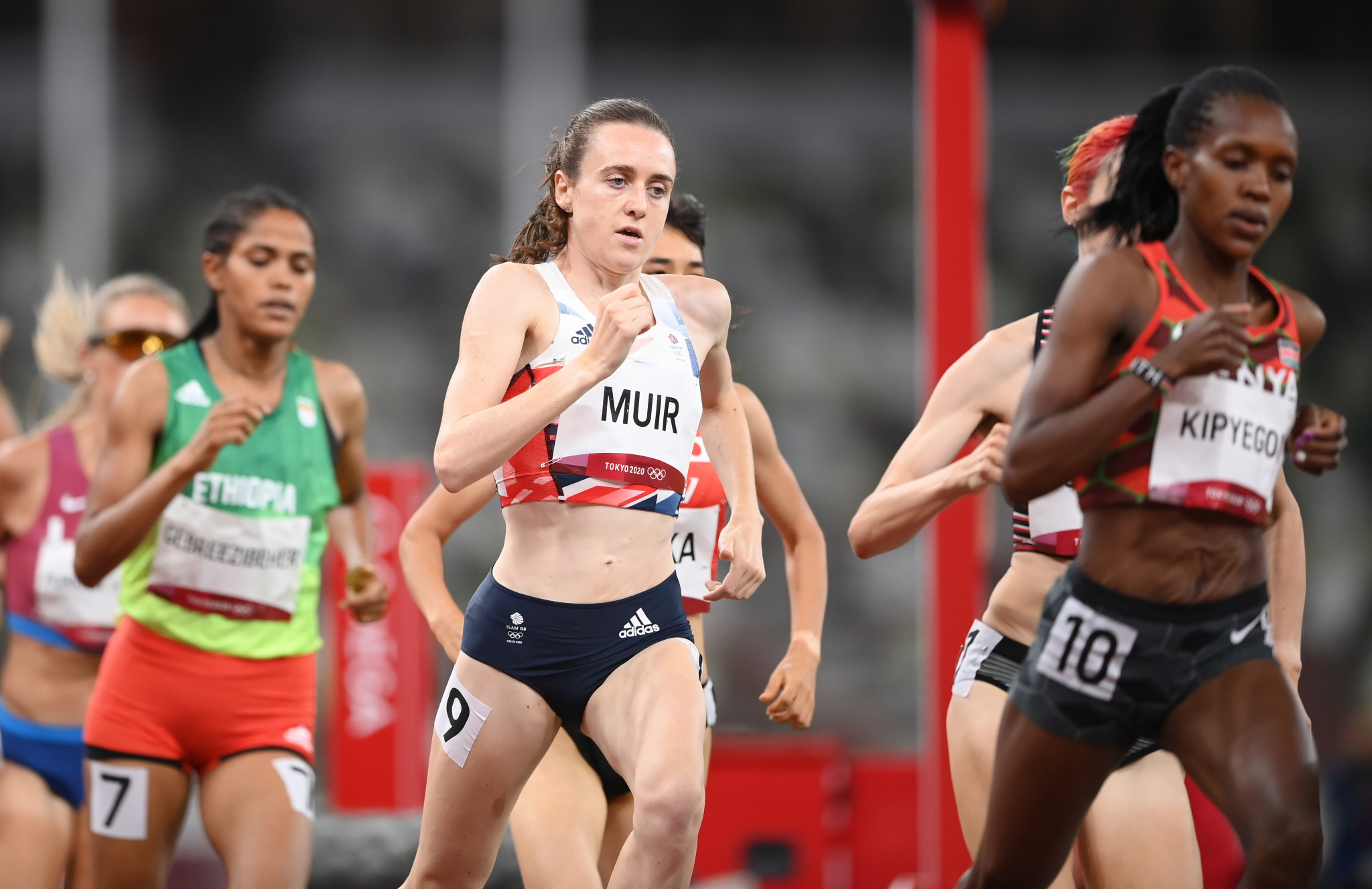 Laura Muir ran a British record time of 3:54.50 to clinch silver in the women's 1500m at Tokyo 2020 ©Getty Images