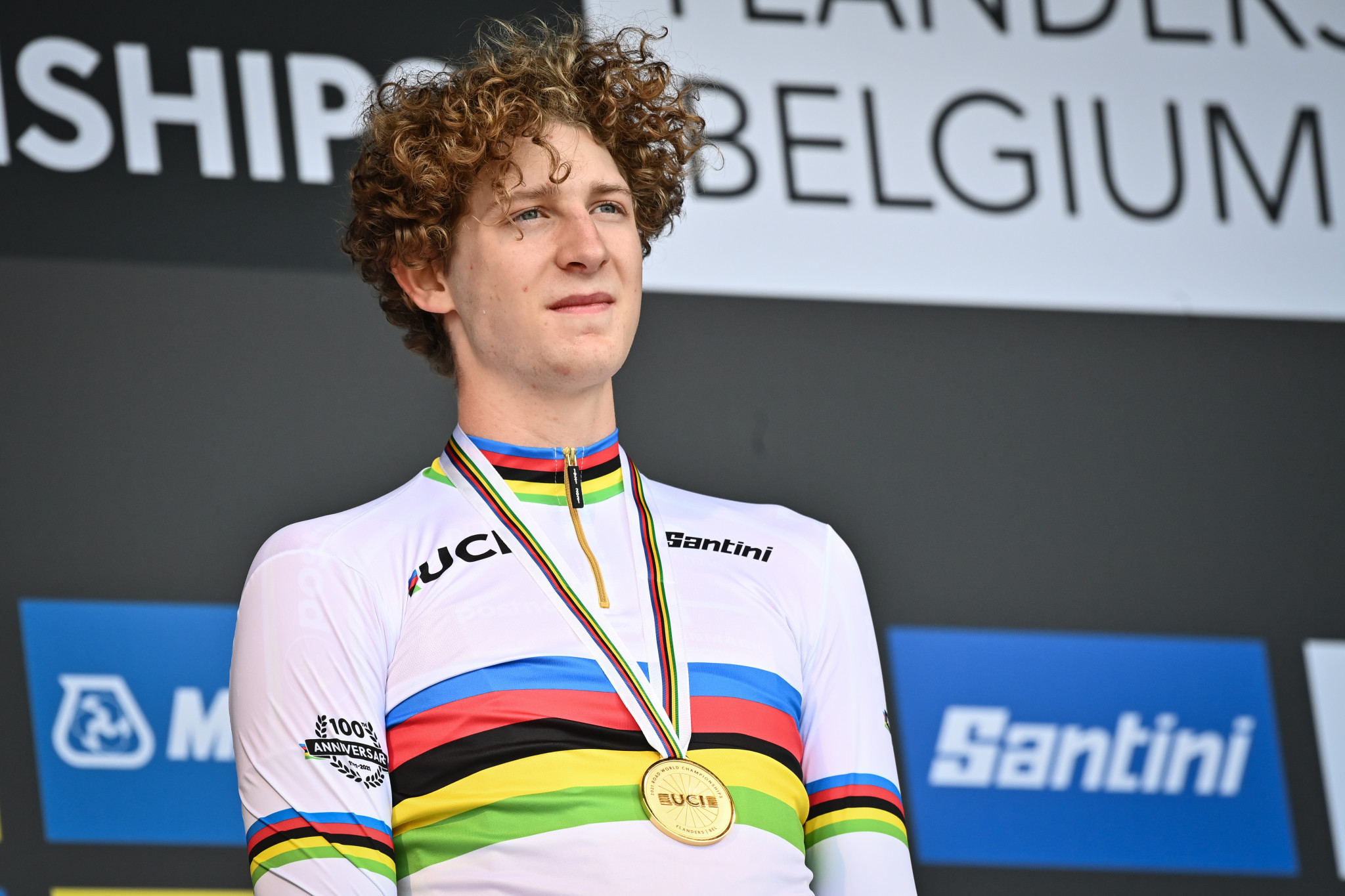 Wang wins junior men's time trial title at UCI Road World Championships