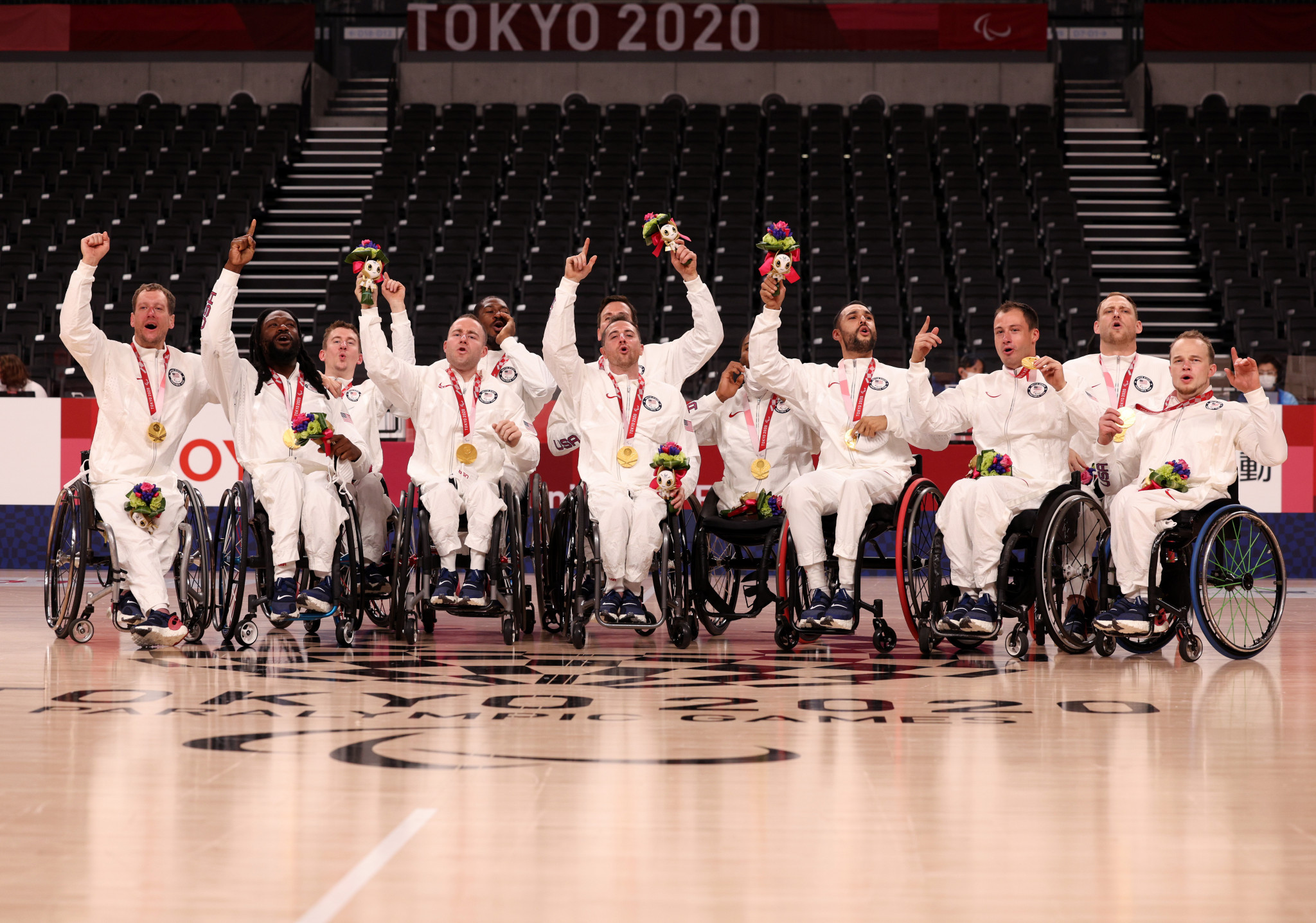 The United States won the gold medal in the men's wheelchair basketball at the Tokyo 2020 Paralympics ©Getty Images