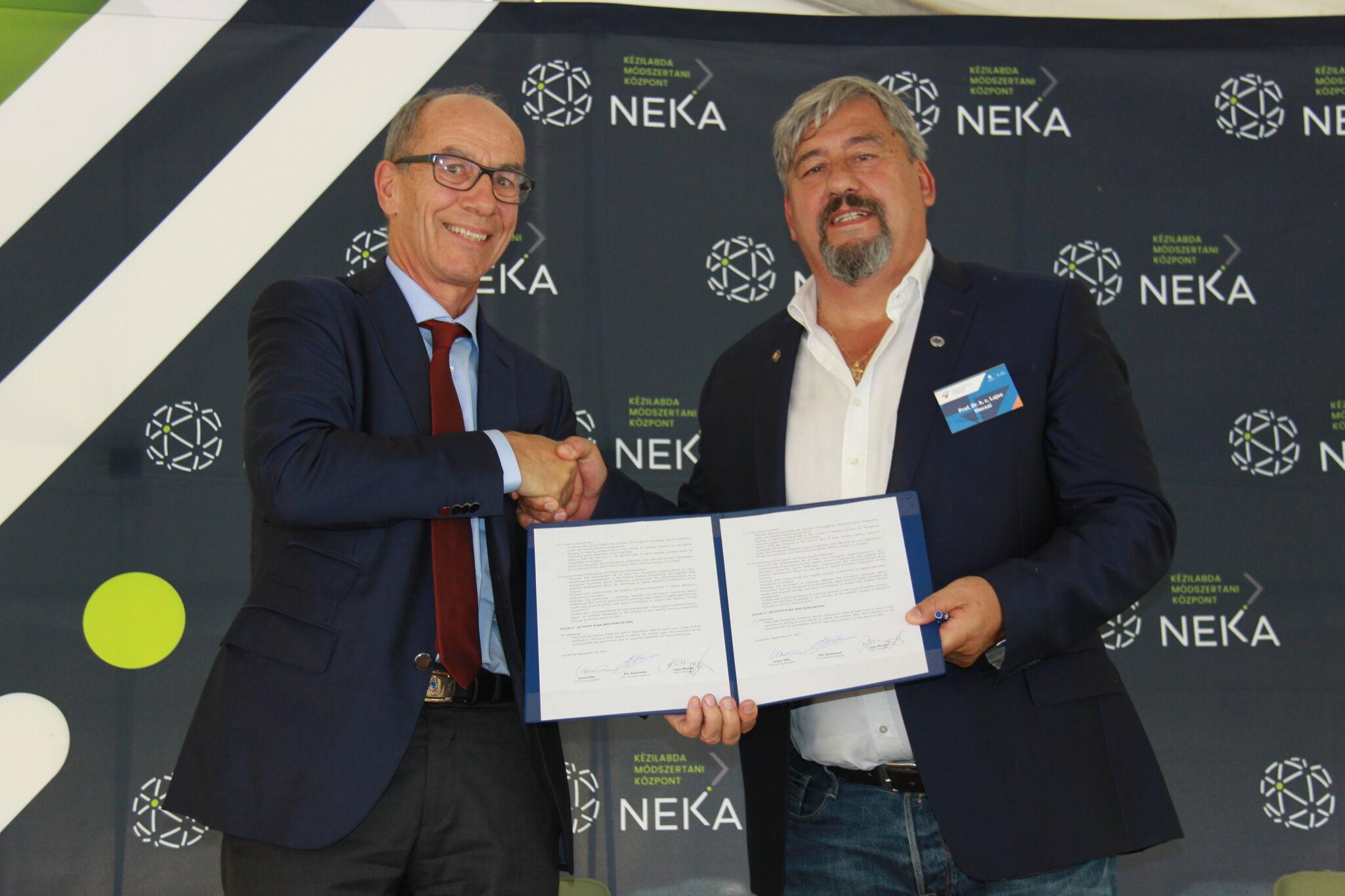 "FISU and Hungarian University Sports Federation sign Memorandum of Understanding to achieve ""greater things"""