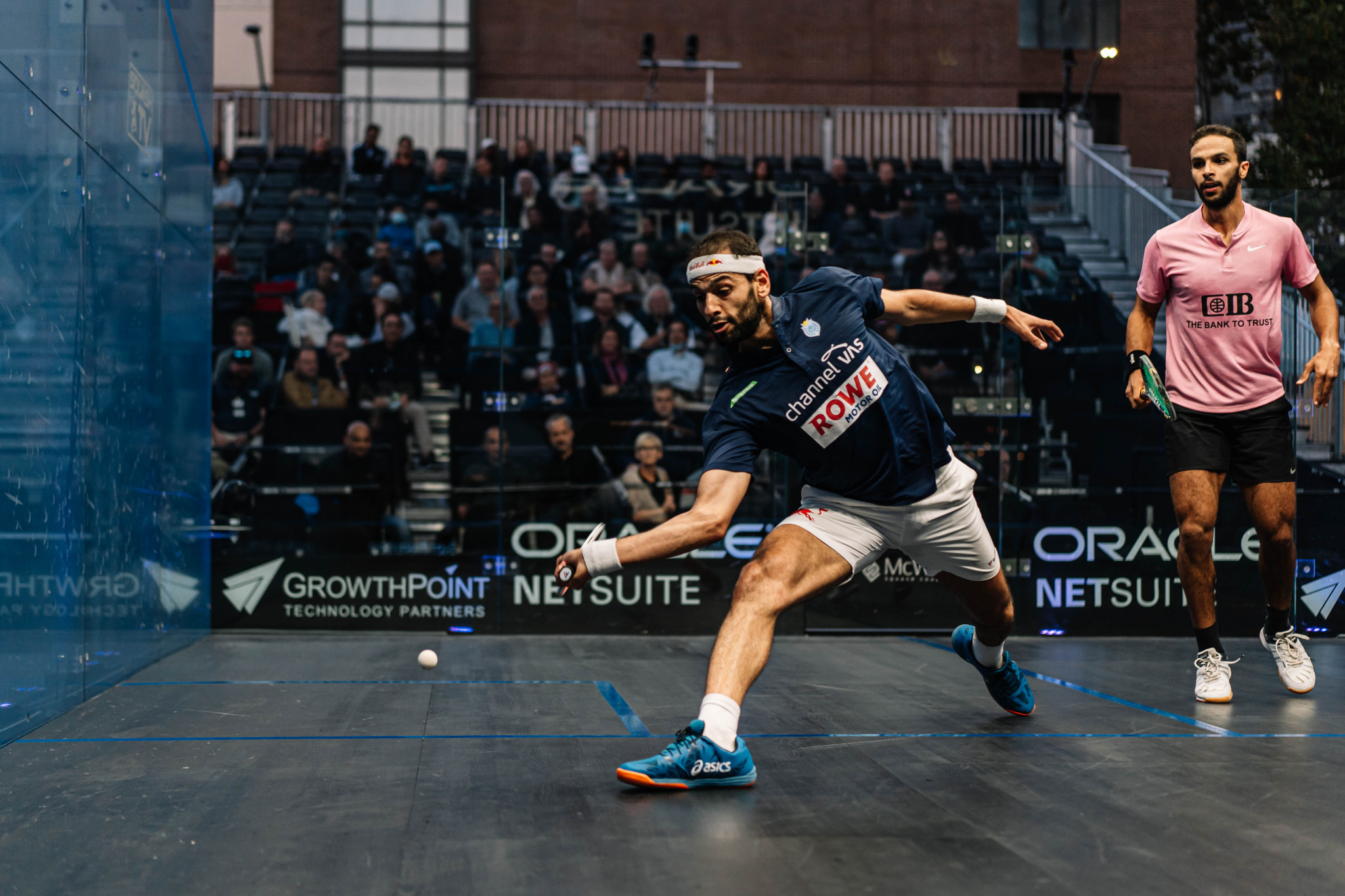Mohamed ElShorbagy comes from behind to win Oracle Netsuite Open opener