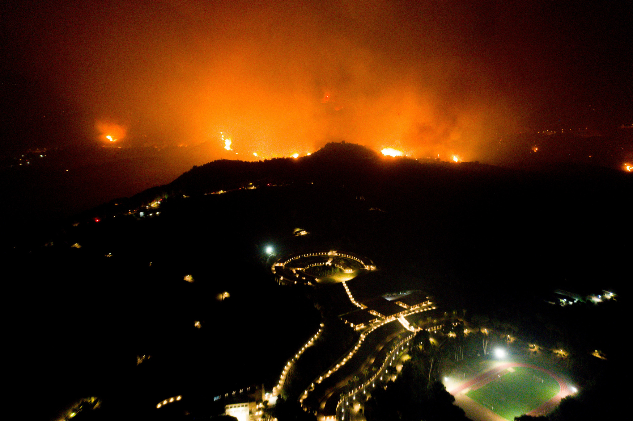 Wildfires this year came close to the IOA ©Getty Images