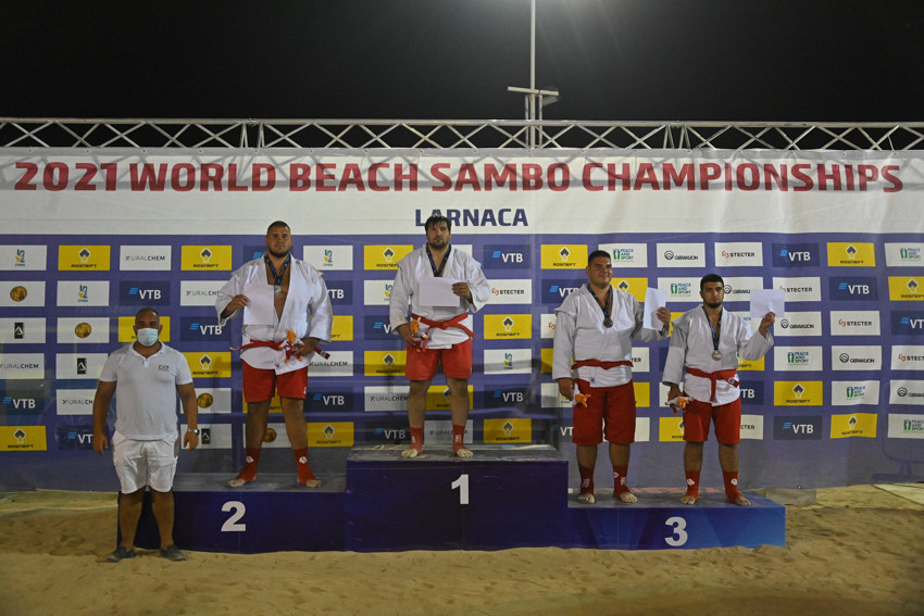 Tymur Samedov felt his weight and relative lack of experience prevented him from performing even better at the World Beach Sambo Championships ©FIAS