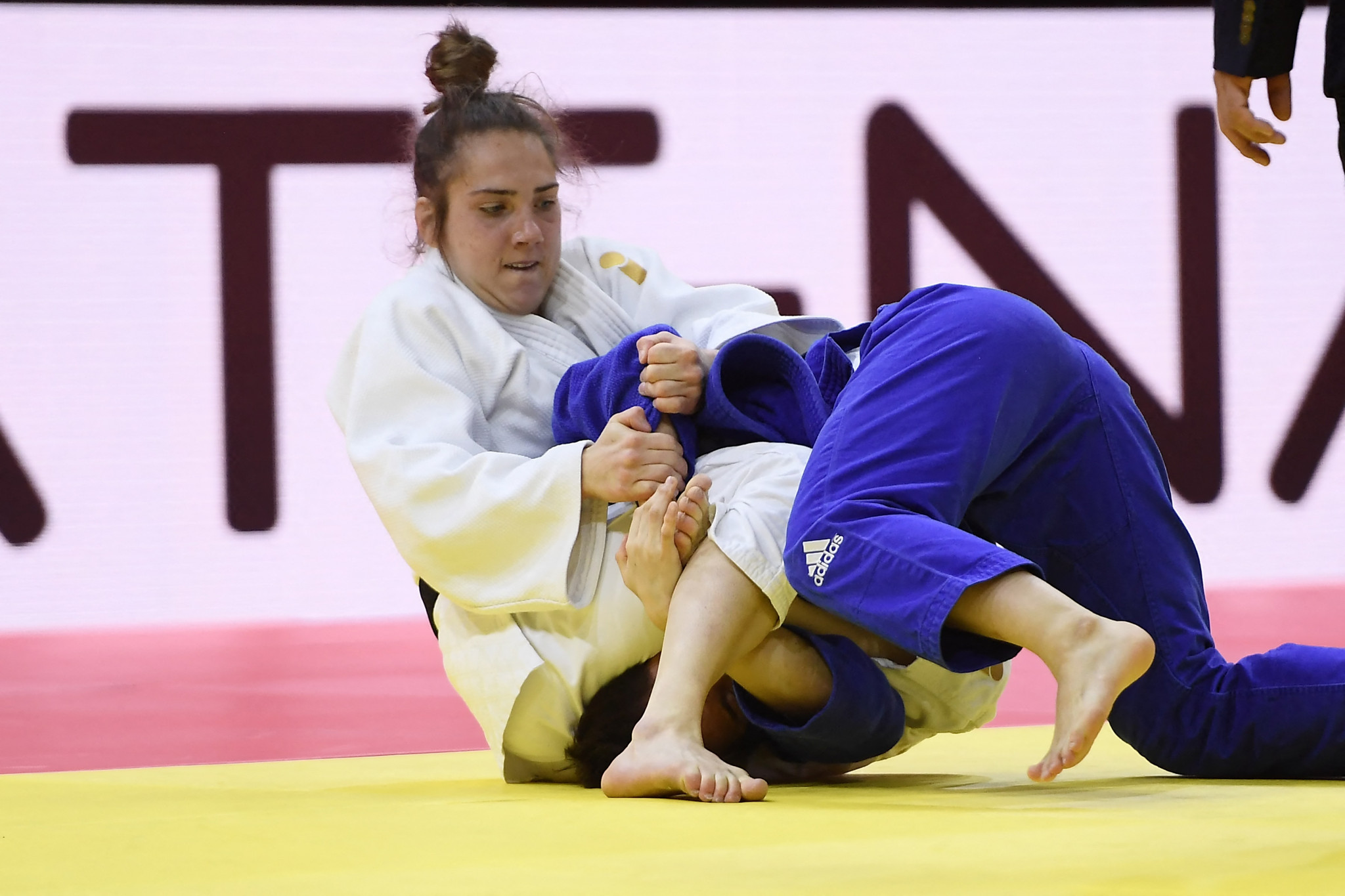 Amber Ryheul secured gold in the women's under-52kg in Zagreb ©Getty Images