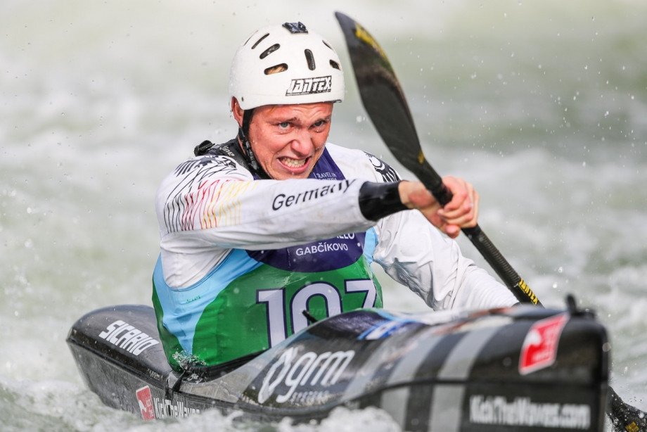 Yannic Lemmen was quickest in the men's K1 with a time of 51.68sec ©ICF