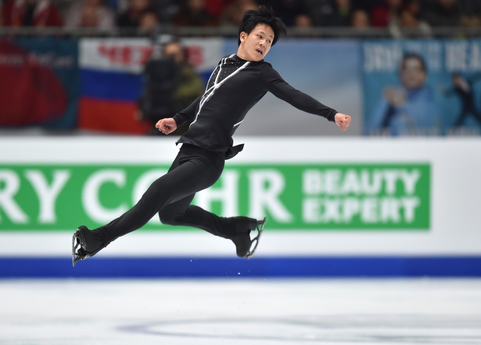 France's Adam Siao Him Fa produced a fine free skating routine to seal second spot ©Getty Images