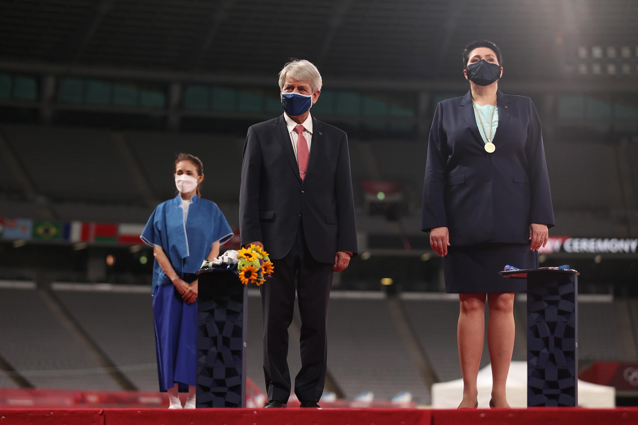 Klaus Schormann, centre, believes Tokyo 2020