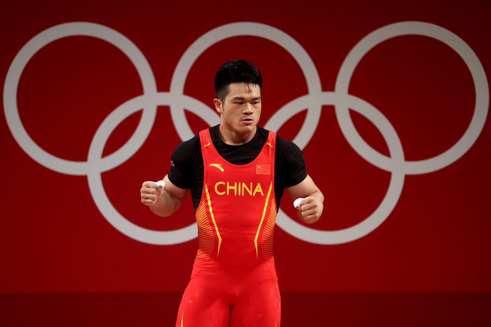 Shi Zhiyong provided the best performance in the men's weightlifting events at the National Games of China ©Getty Images