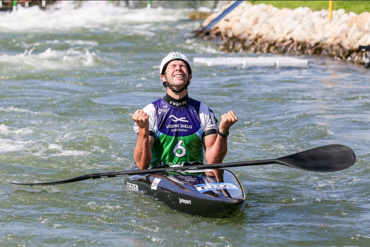 Boris Neveu claimed the second world title of his career in Bratislava ©ICF