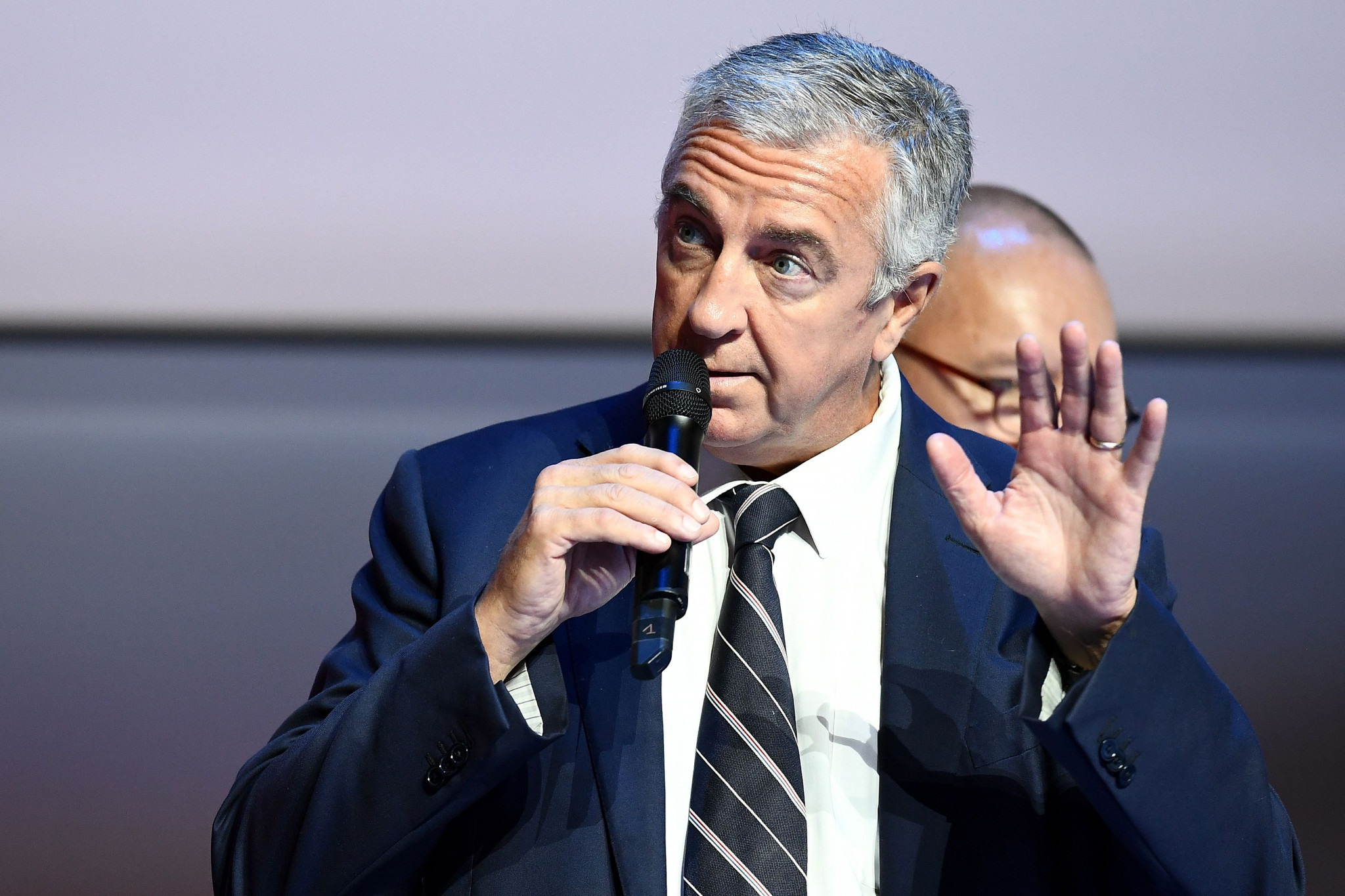Luc Tardif was elected IIHF President yesterday after winning by 67 votes to Franz Reindl's 39 in the final round ©Getty Images