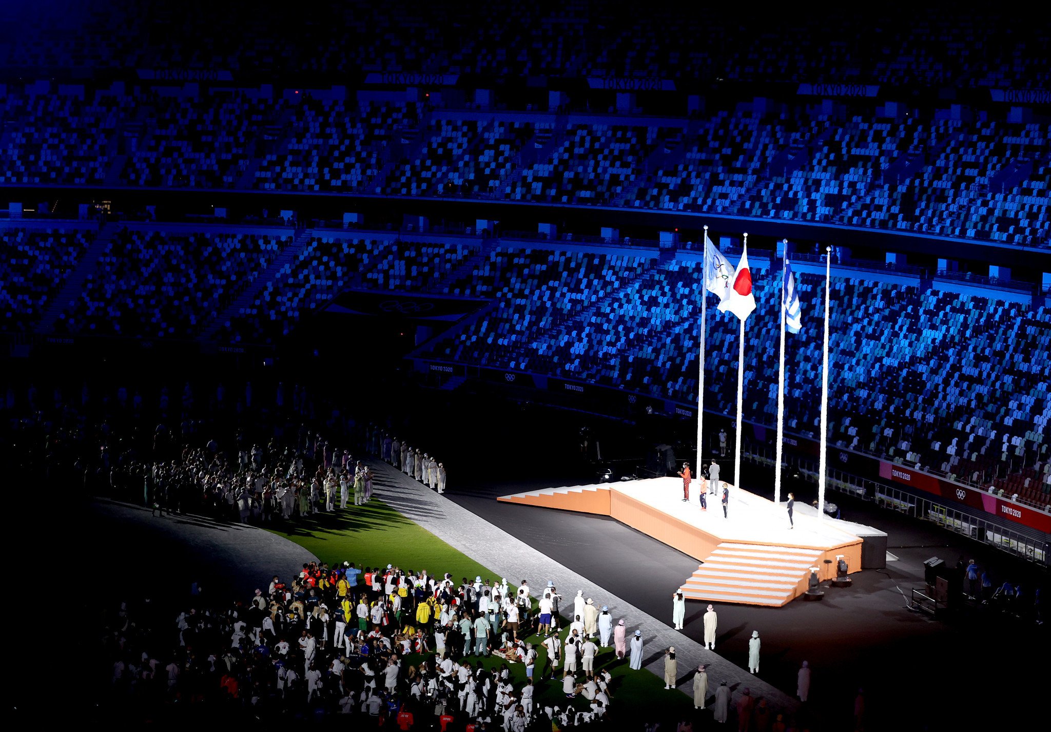 New IOC Athletes' Commission members were honoured during the Tokyo 2020 Closing Ceremony ©Getty Images
