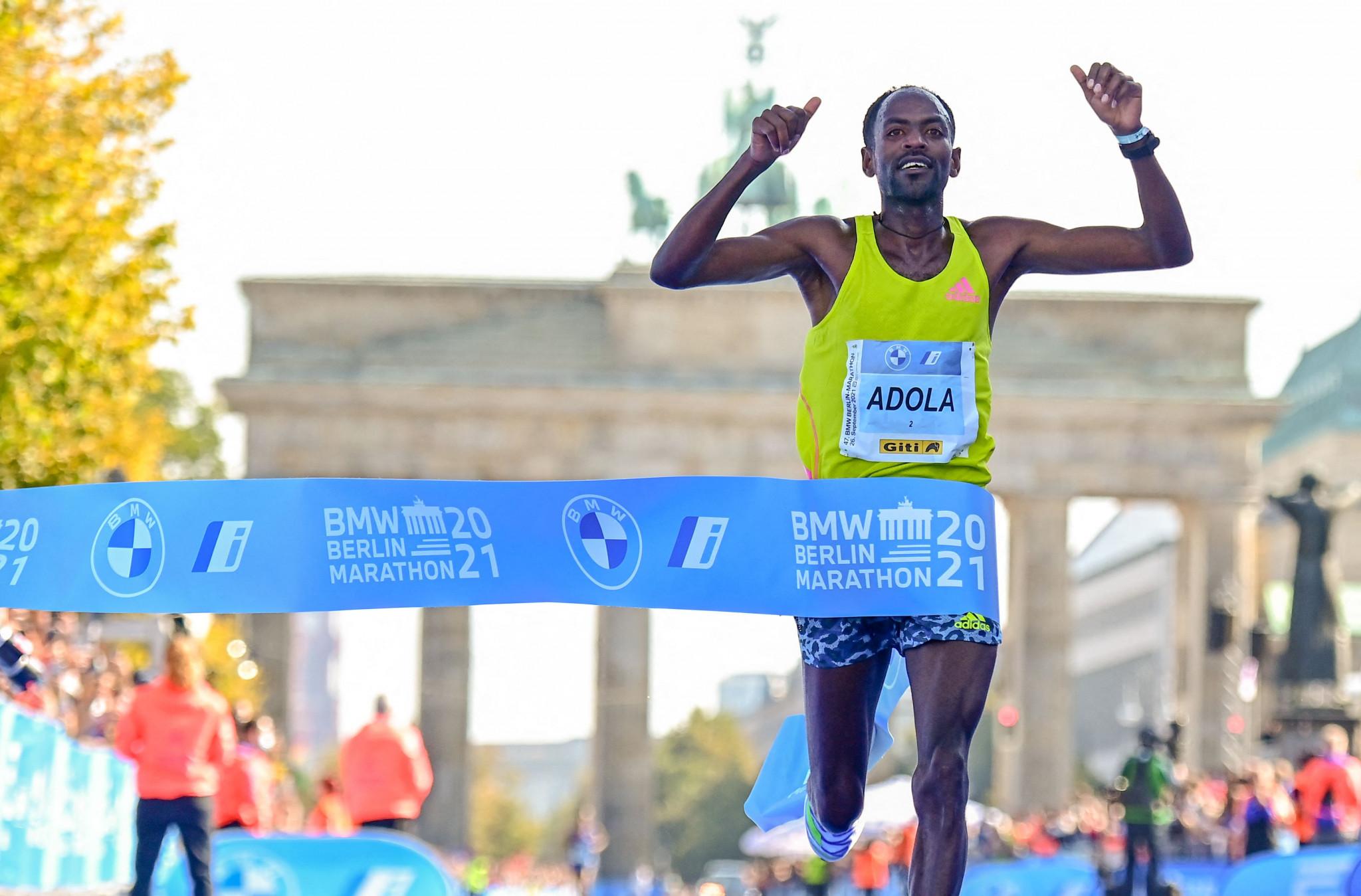 Adola and Gebreslase win at Berlin Marathon as Bekele fails to threaten world record