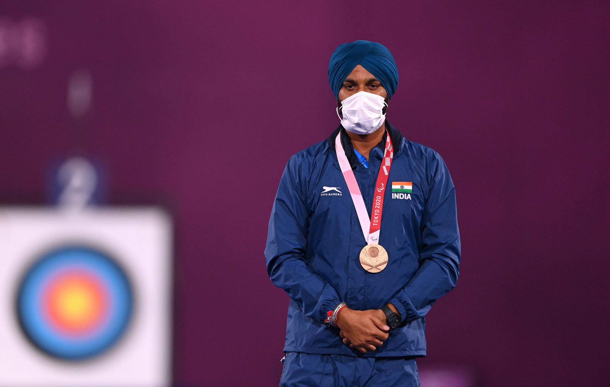 Harvinder Singh beat South Korean Kim Min Su 6-5 to claim gold at Tokyo 2020 ©Getty Images