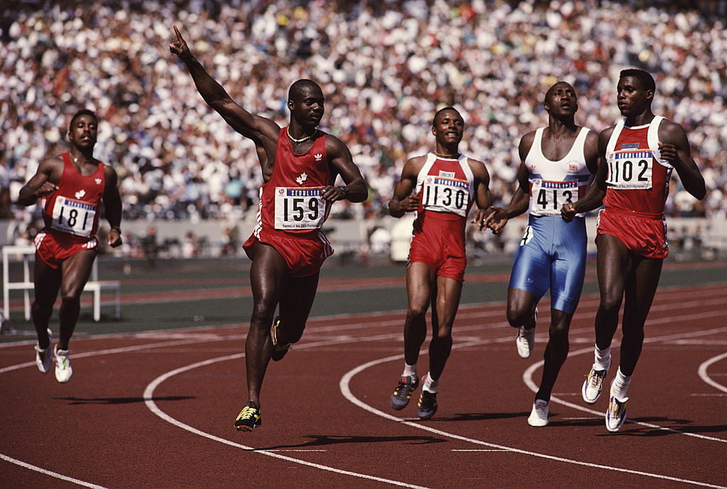 Pride before the fall - Ben Johnson wins the 1988 Olympic 100m title in Seoul, lowering his own world record to 9.79sec. Three days later a positive doping test annulled both the victory and time ©Getty Images